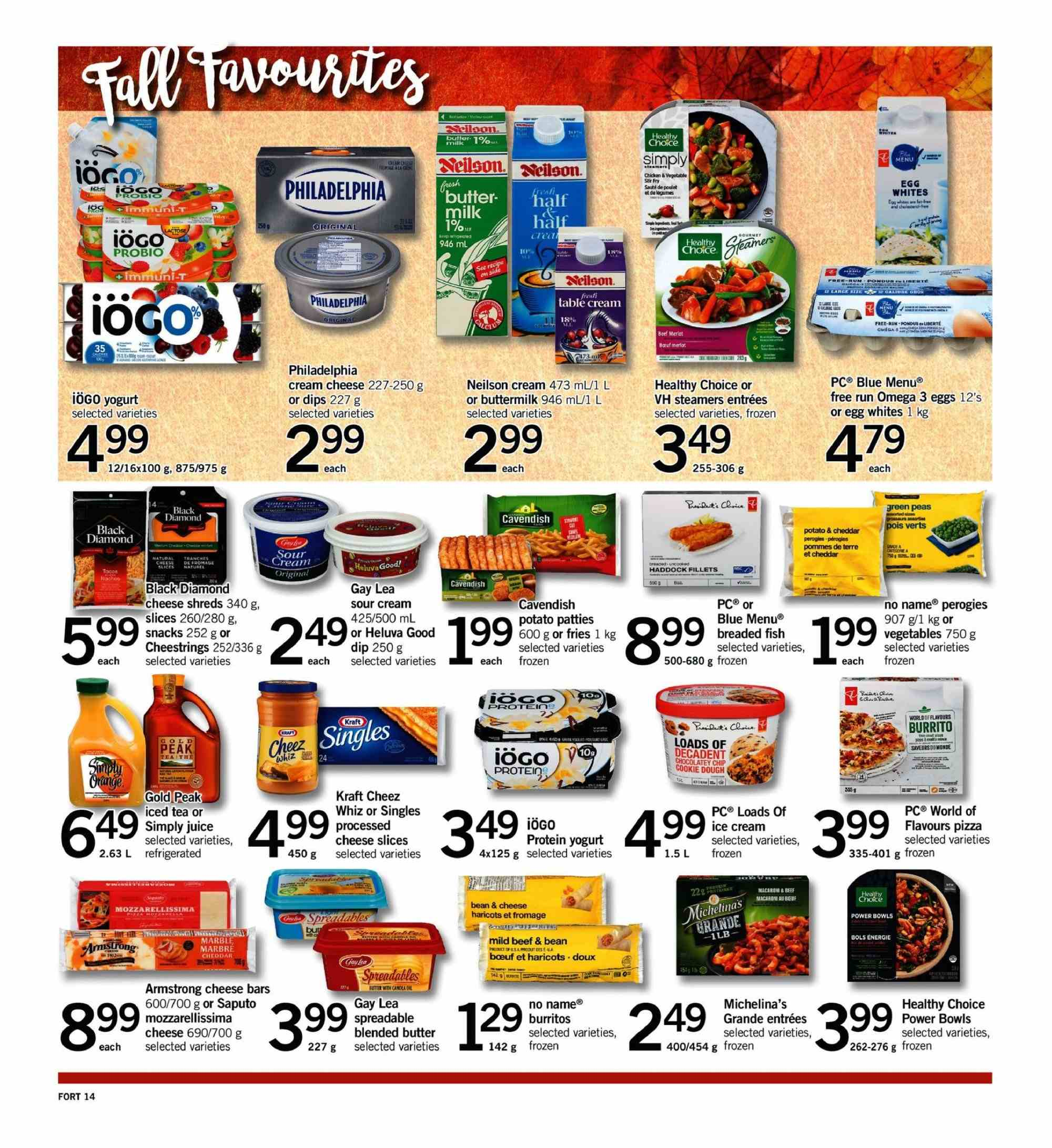 Fortinos Flyer  - September 13, 2018 - September 19, 2018. Page 14.