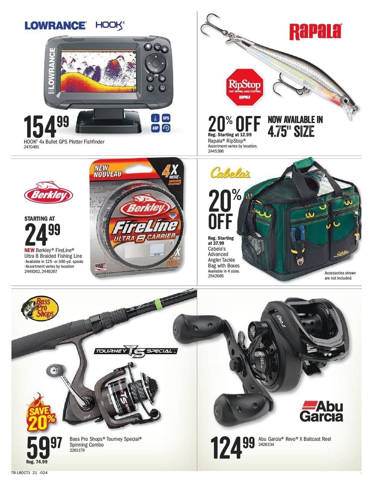 Bass Pro Shops Flyer  - September 21, 2018 - October 07, 2018. Page 21.