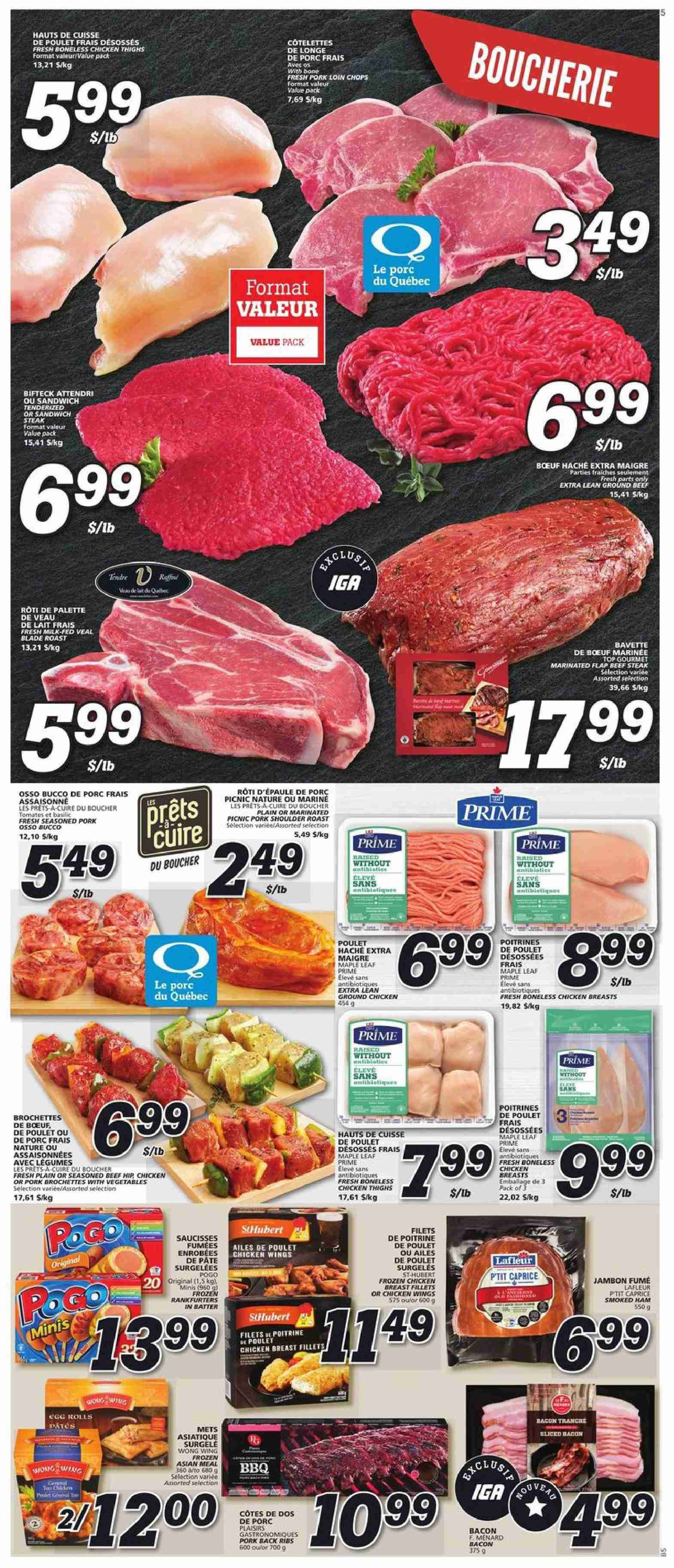 IGA Flyer  - September 27, 2018 - October 03, 2018. Page 3.