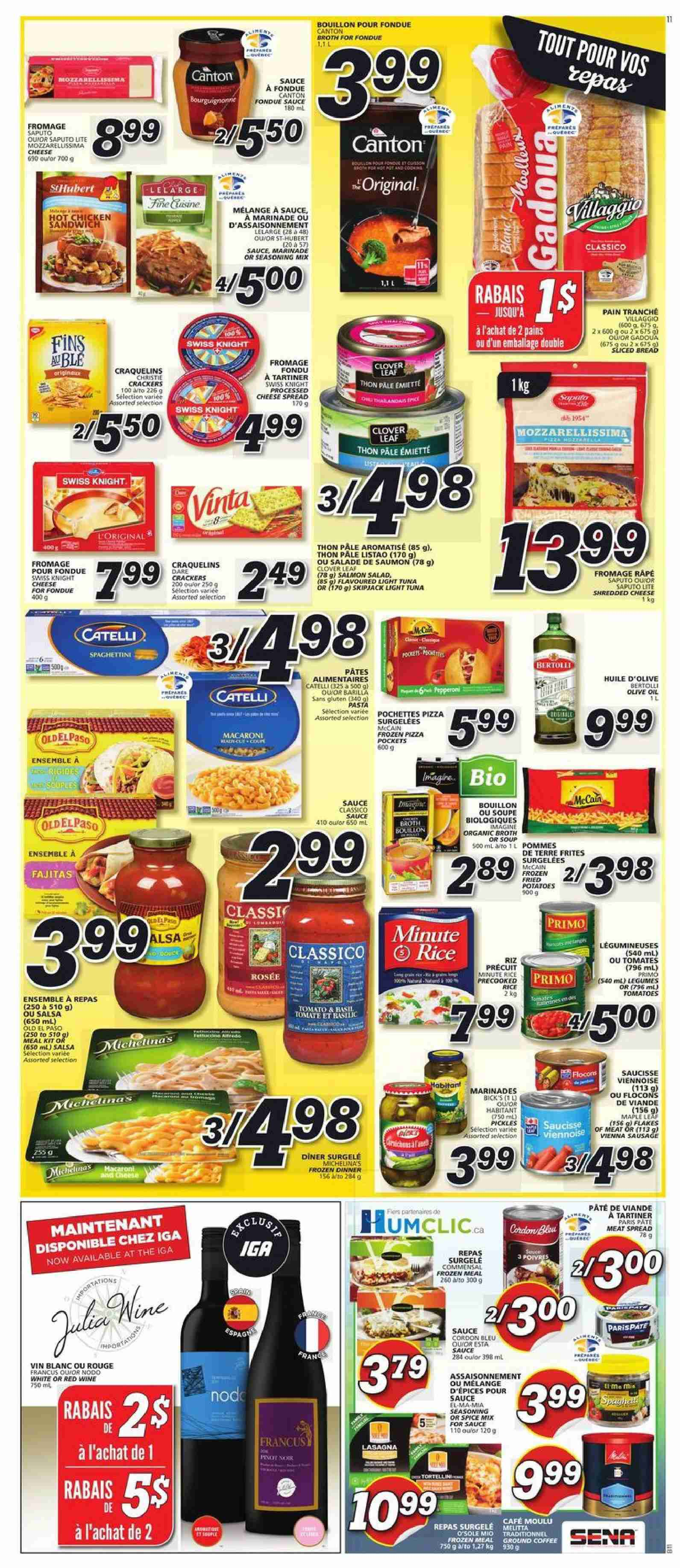 IGA Flyer  - September 27, 2018 - October 03, 2018. Page 9.