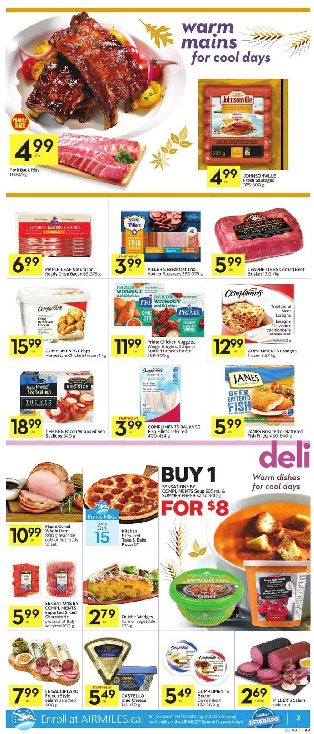 Foodland Flyer  - September 27, 2018 - October 03, 2018. Page 3.