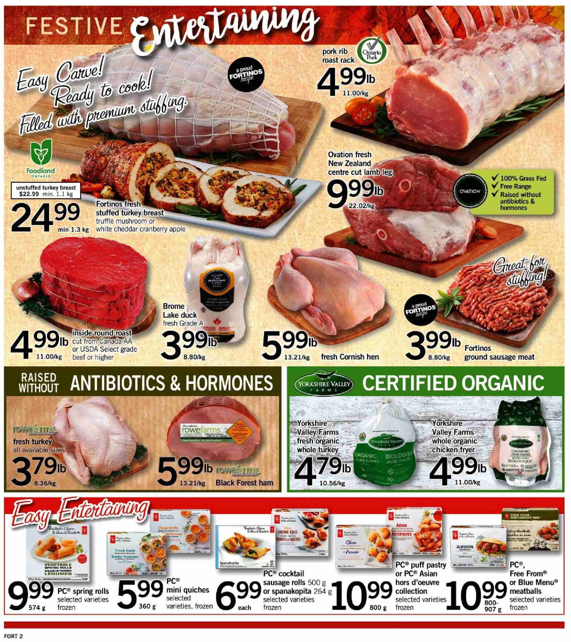 Fortinos Flyer  - September 27, 2018 - October 03, 2018. Page 2.