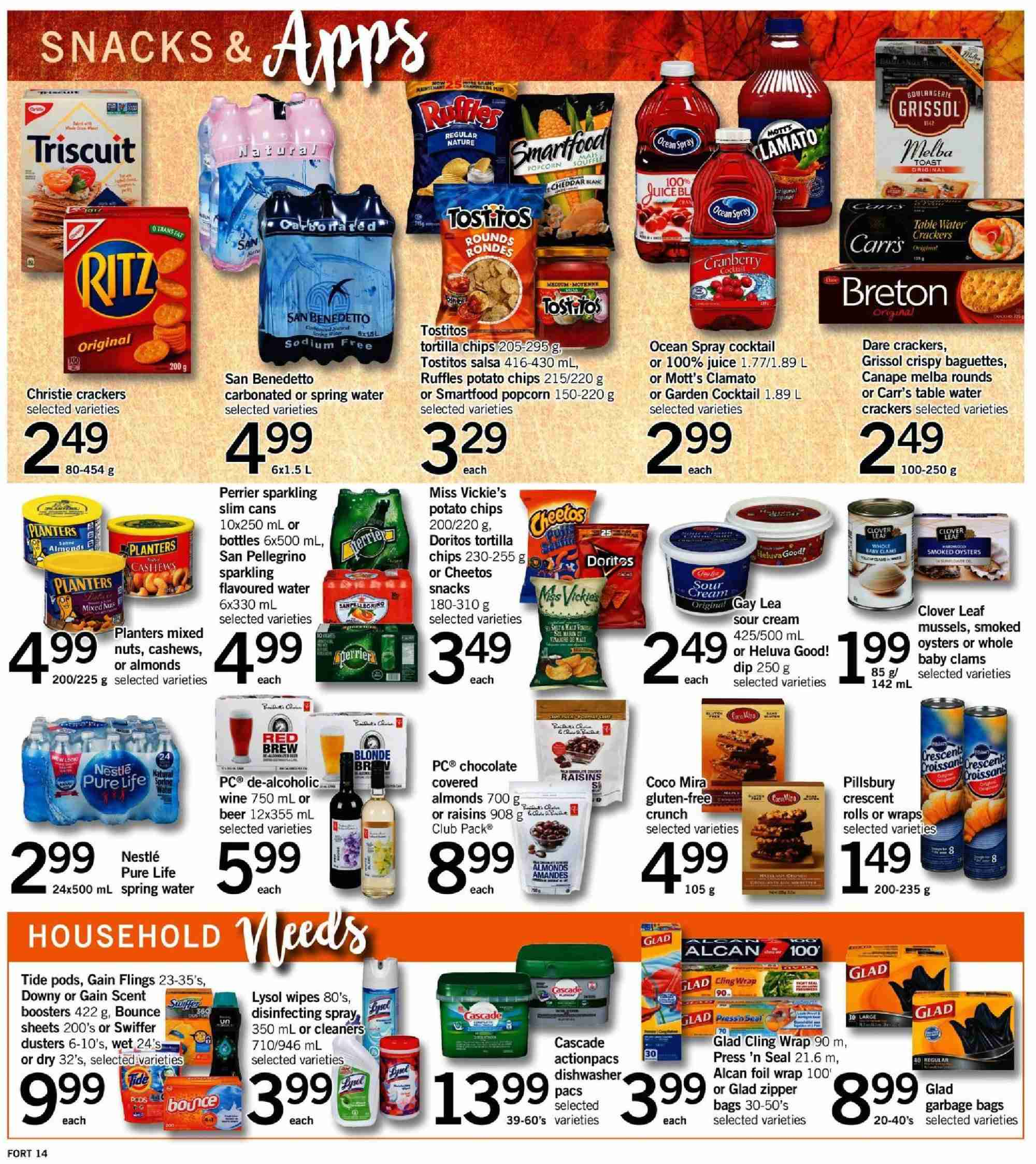 Fortinos Flyer - October 04, 2018 - October 07, 2018 - Sales products - water. Page 14.