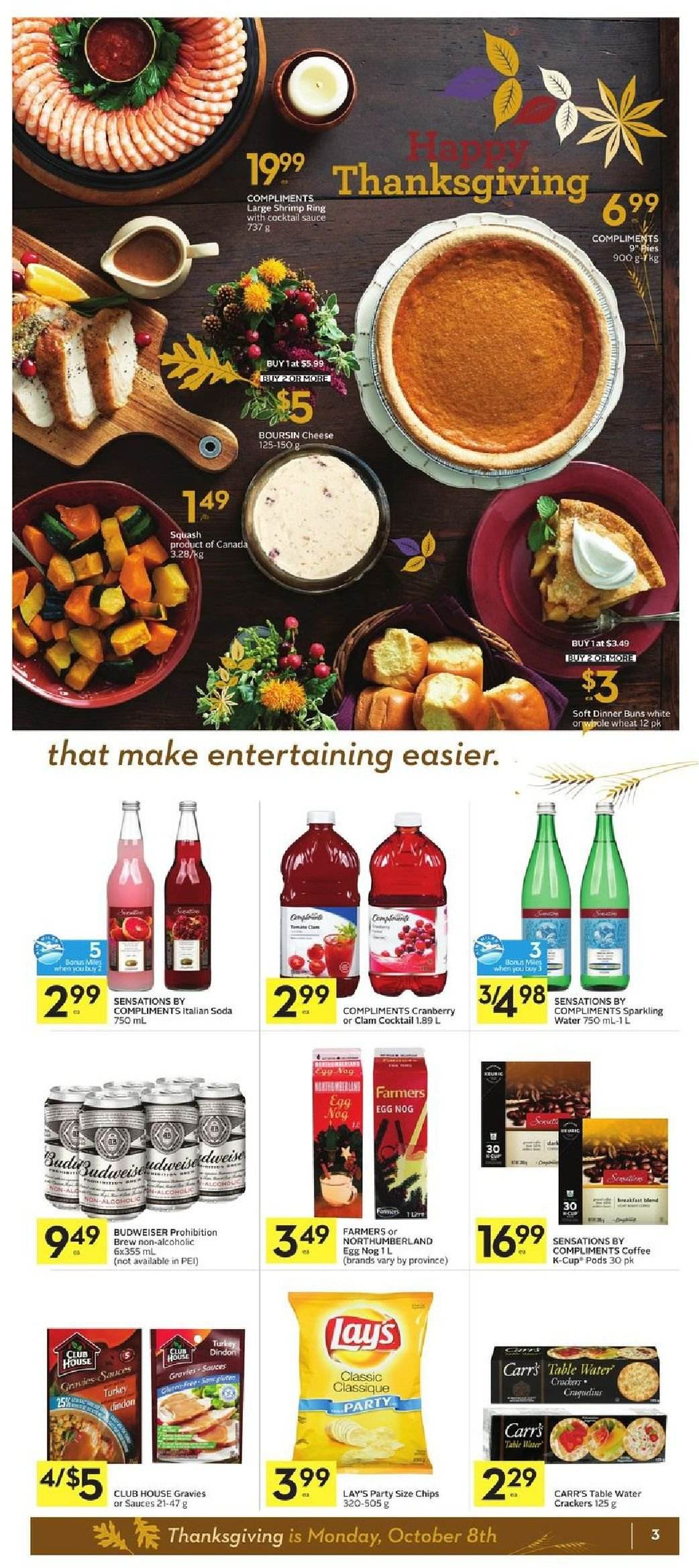 Foodland Flyer  - October 04, 2018 - October 10, 2018. Page 3.
