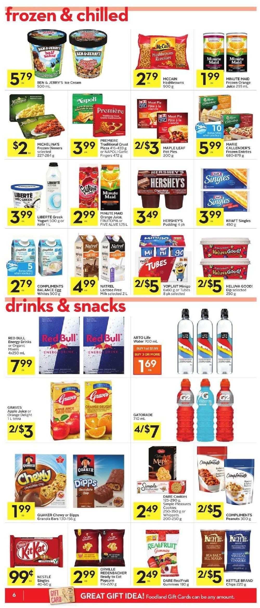 Foodland Flyer  - October 04, 2018 - October 10, 2018. Page 6.