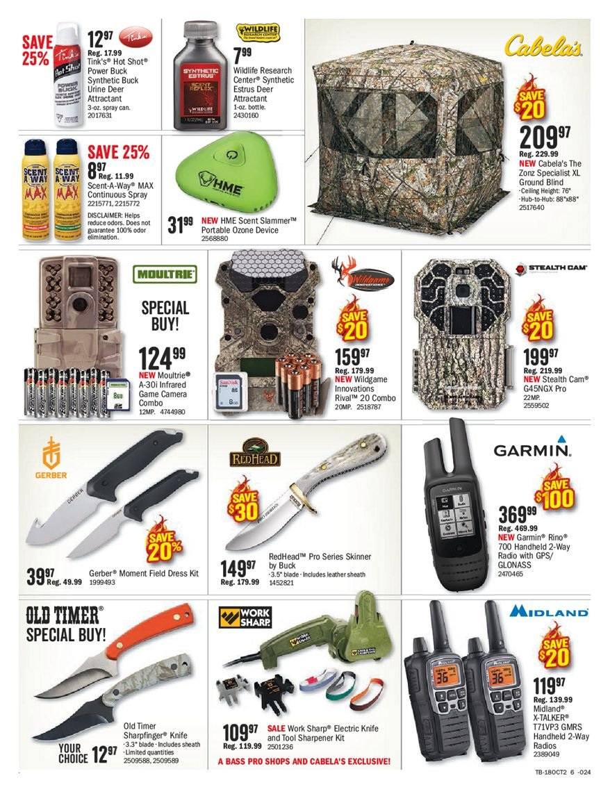 Bass Pro Shops Flyer  - October 05, 2018 - October 21, 2018. Page 6.