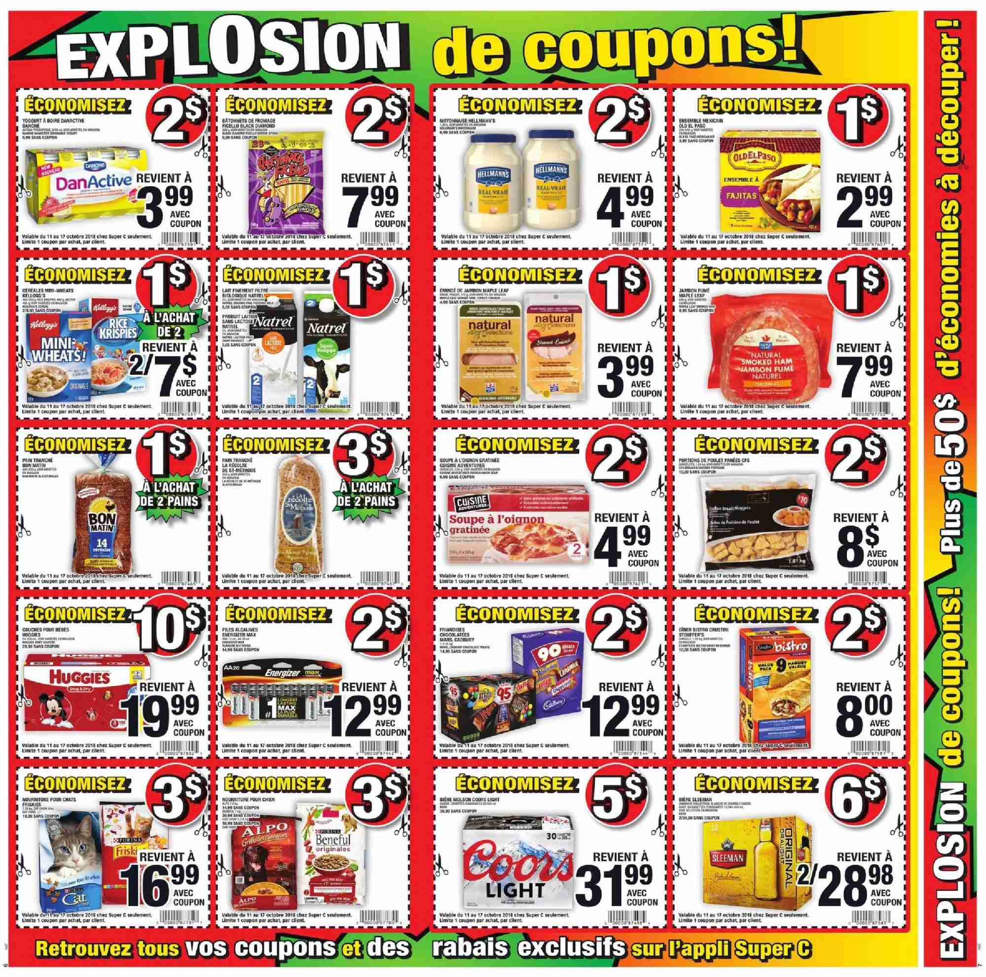 Super C Flyer - October 11, 2018 - October 17, 2018 - Sales products - soupe. Page 4.