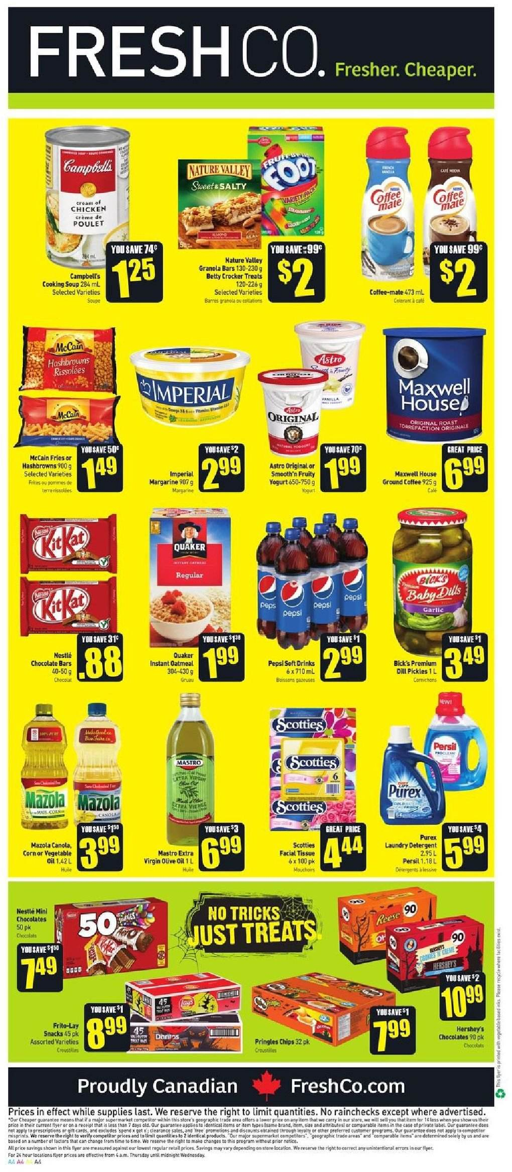 FreshCo. Flyer  - October 11, 2018 - October 17, 2018. Page 4.