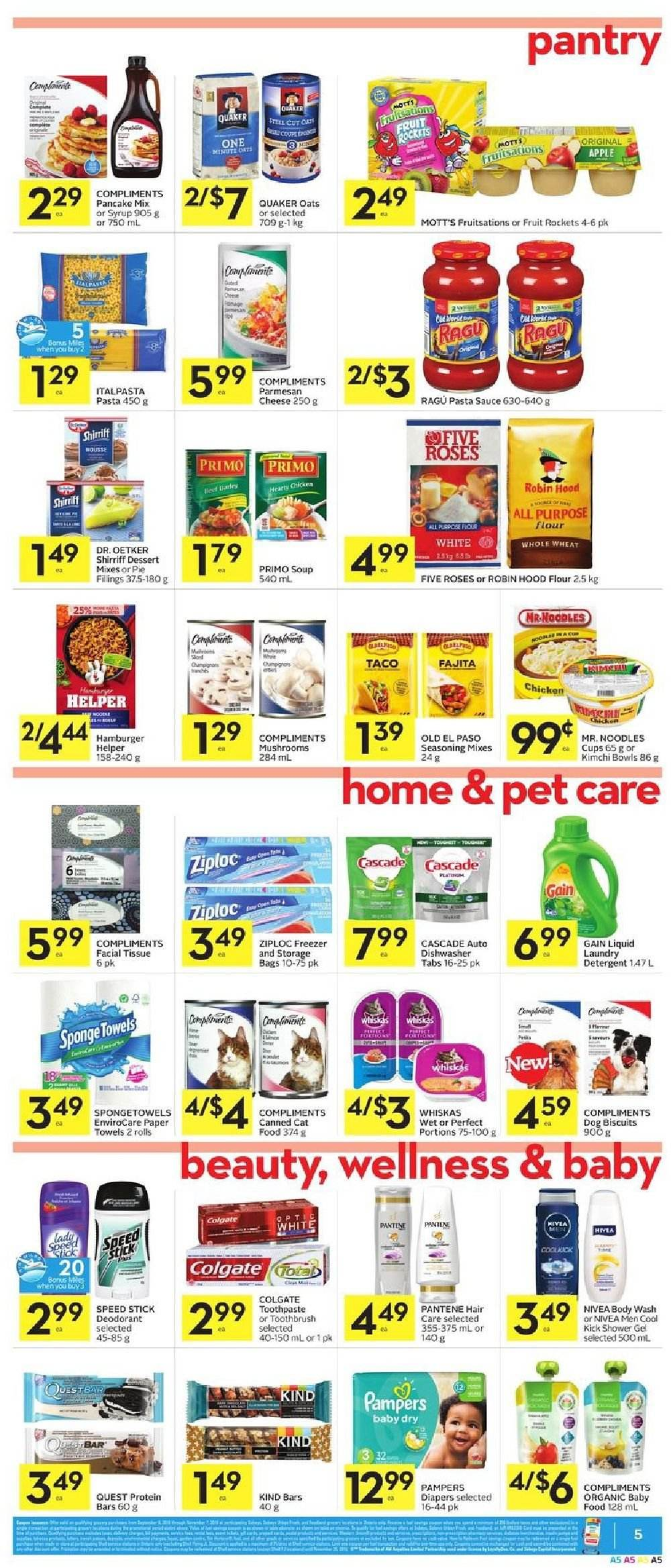 Foodland Flyer  - October 11, 2018 - October 17, 2018. Page 5.