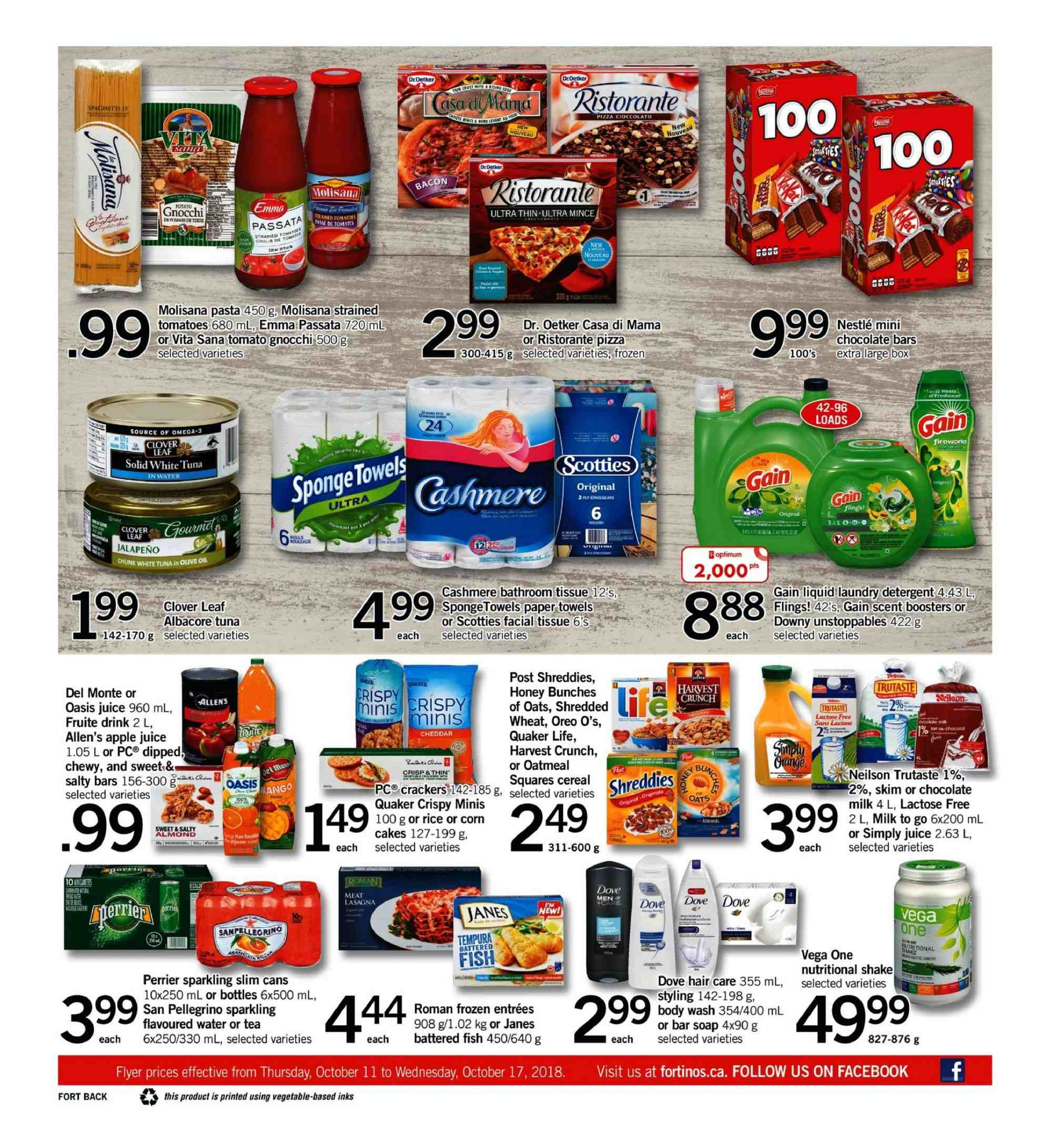 Fortinos Flyer - October 11, 2018 - October 17, 2018 - Sales products - water. Page 16.