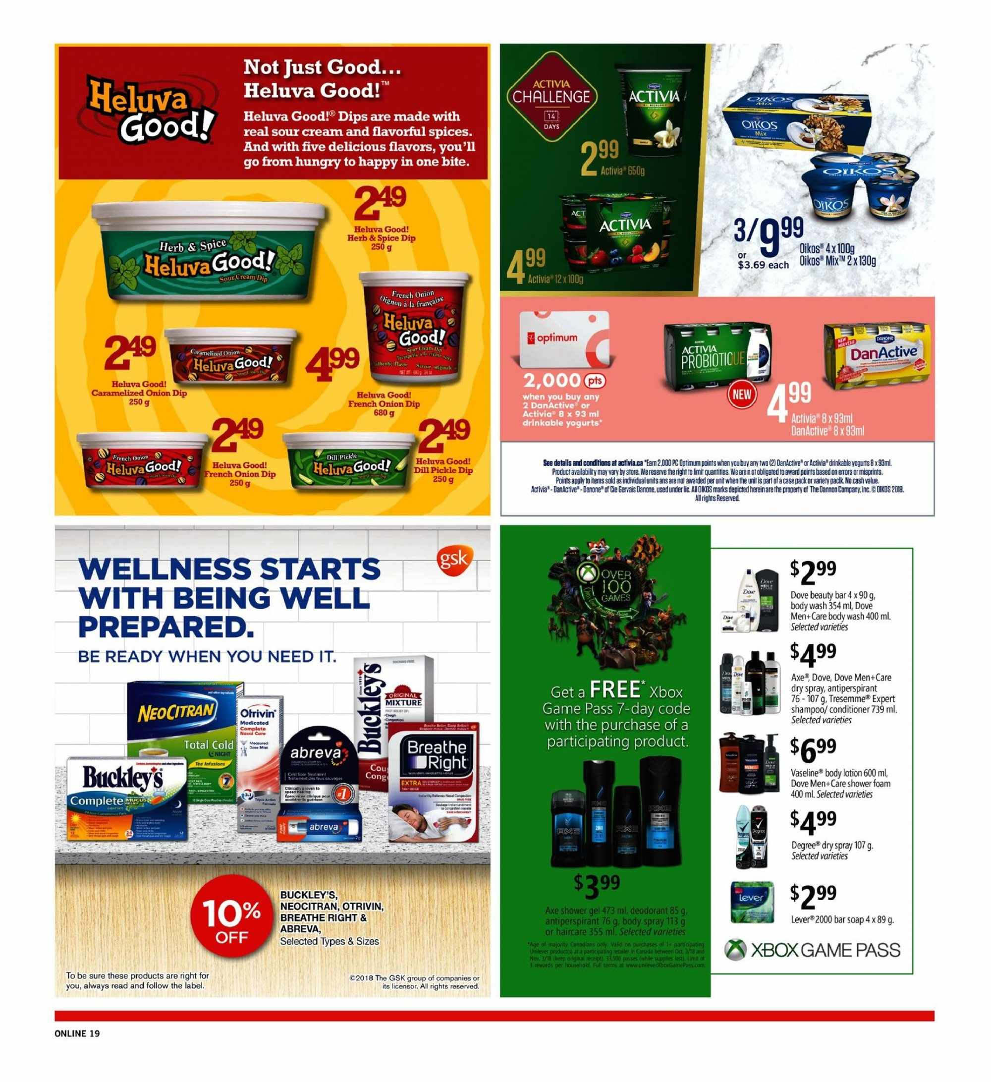 Fortinos Flyer  - October 11, 2018 - October 17, 2018. Page 19.