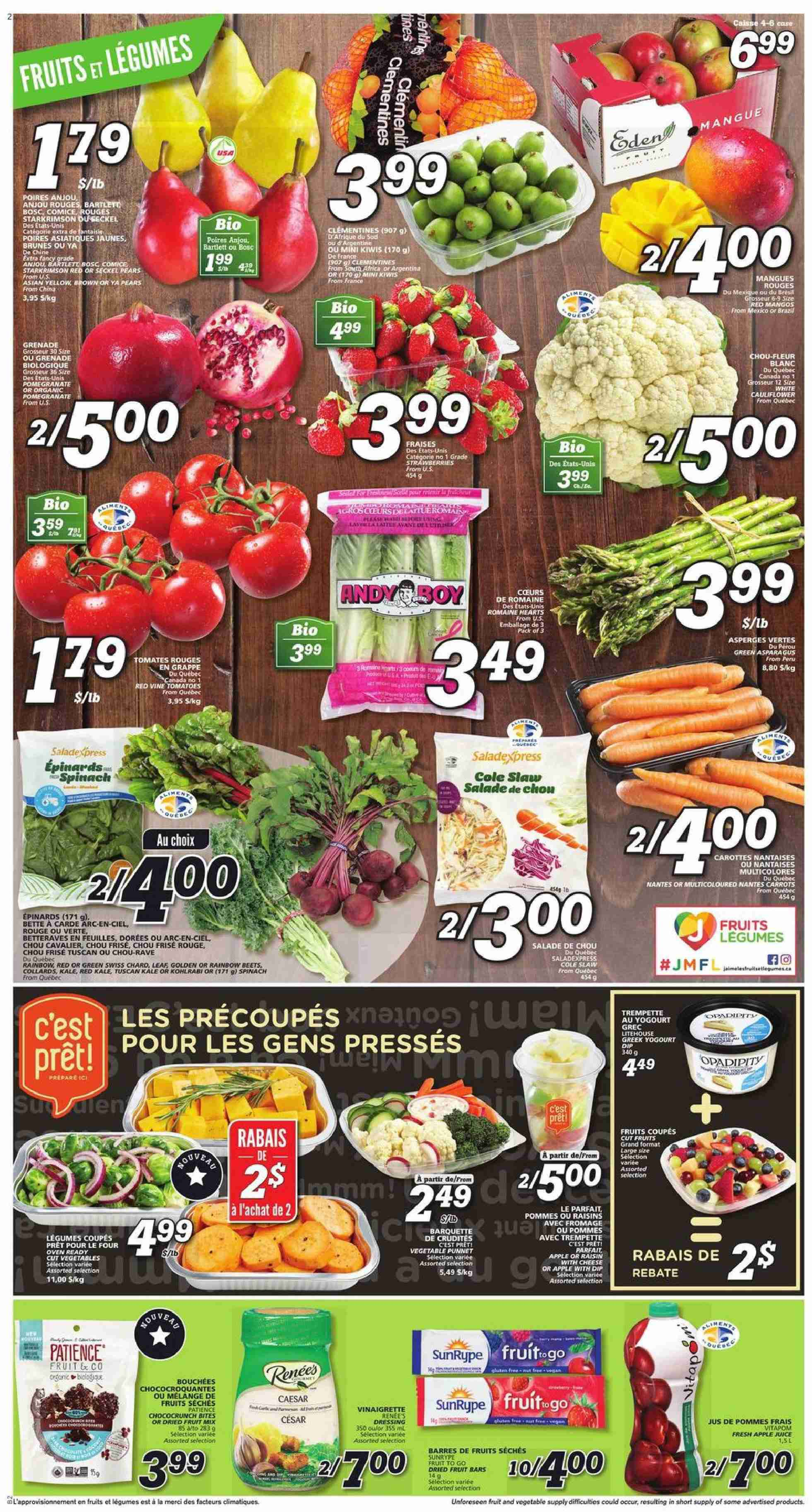 IGA Flyer  - October 18, 2018 - October 24, 2018. Page 2.