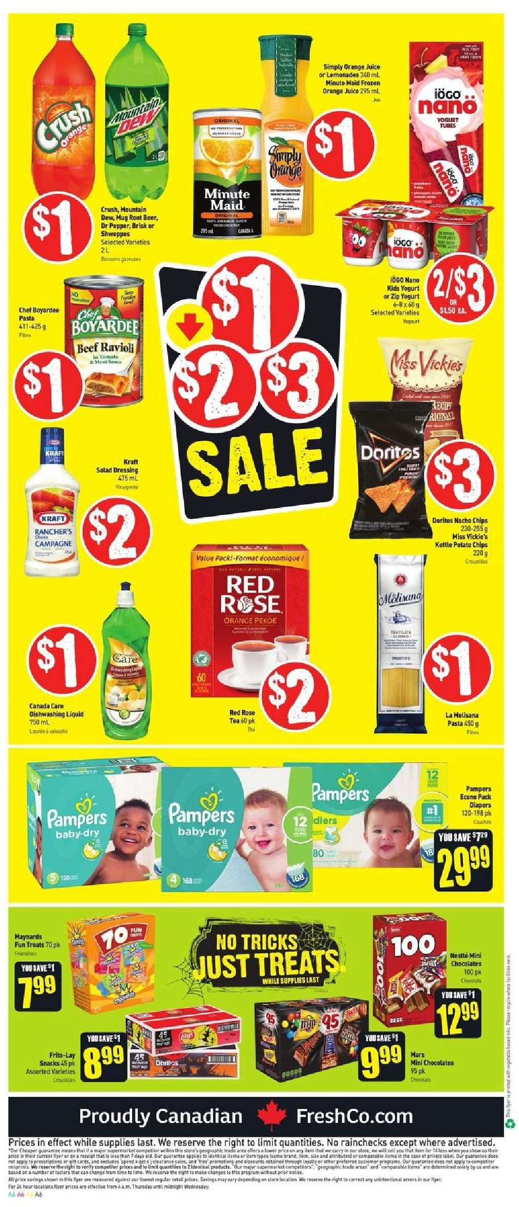 FreshCo. Flyer  - October 18, 2018 - October 24, 2018. Page 6.