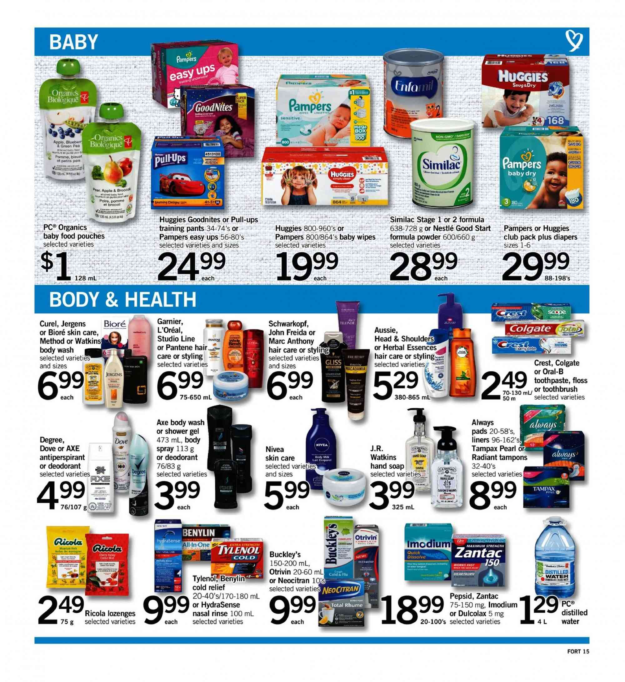 Fortinos Flyer - October 18, 2018 - October 24, 2018 - Sales products - water. Page 15.