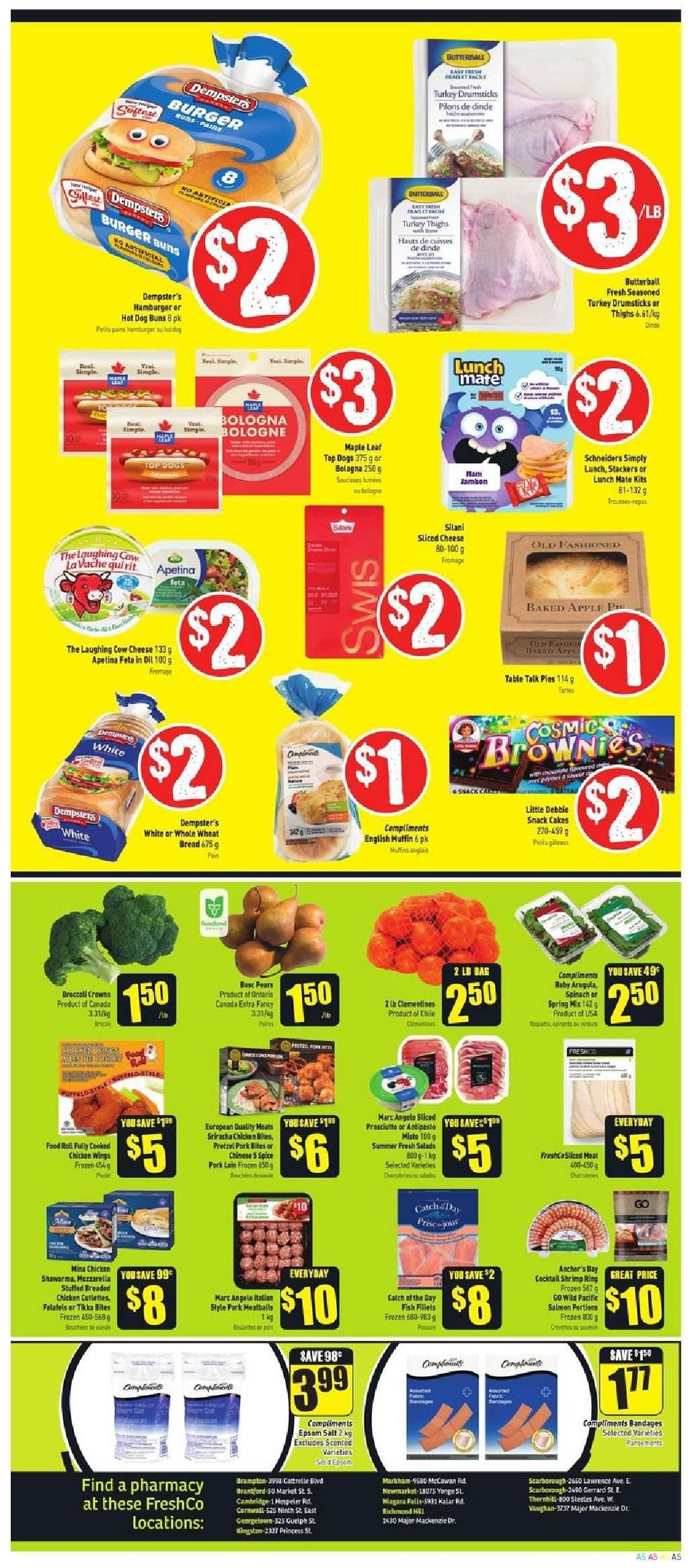 FreshCo. Flyer  - October 25, 2018 - October 31, 2018. Page 5.