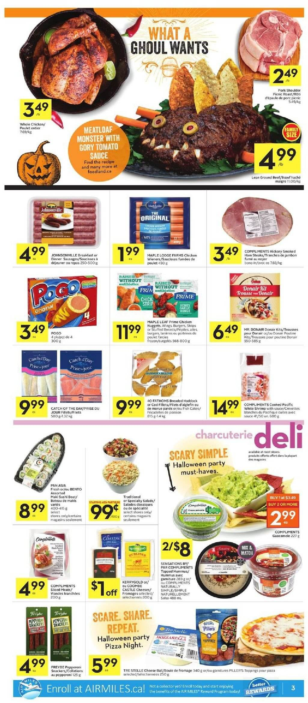 Foodland Flyer  - October 25, 2018 - October 31, 2018. Page 3.