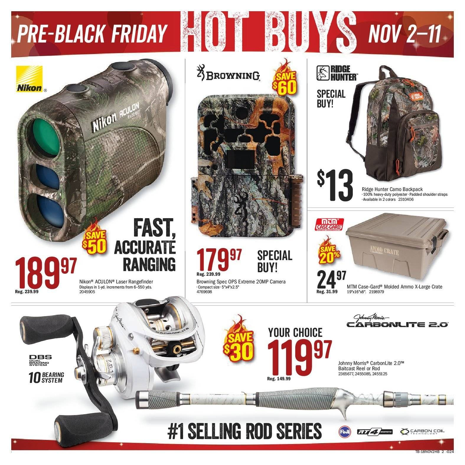 Bass Pro Shops Flyer  - November 02, 2018 - November 20, 2018. Page 2.