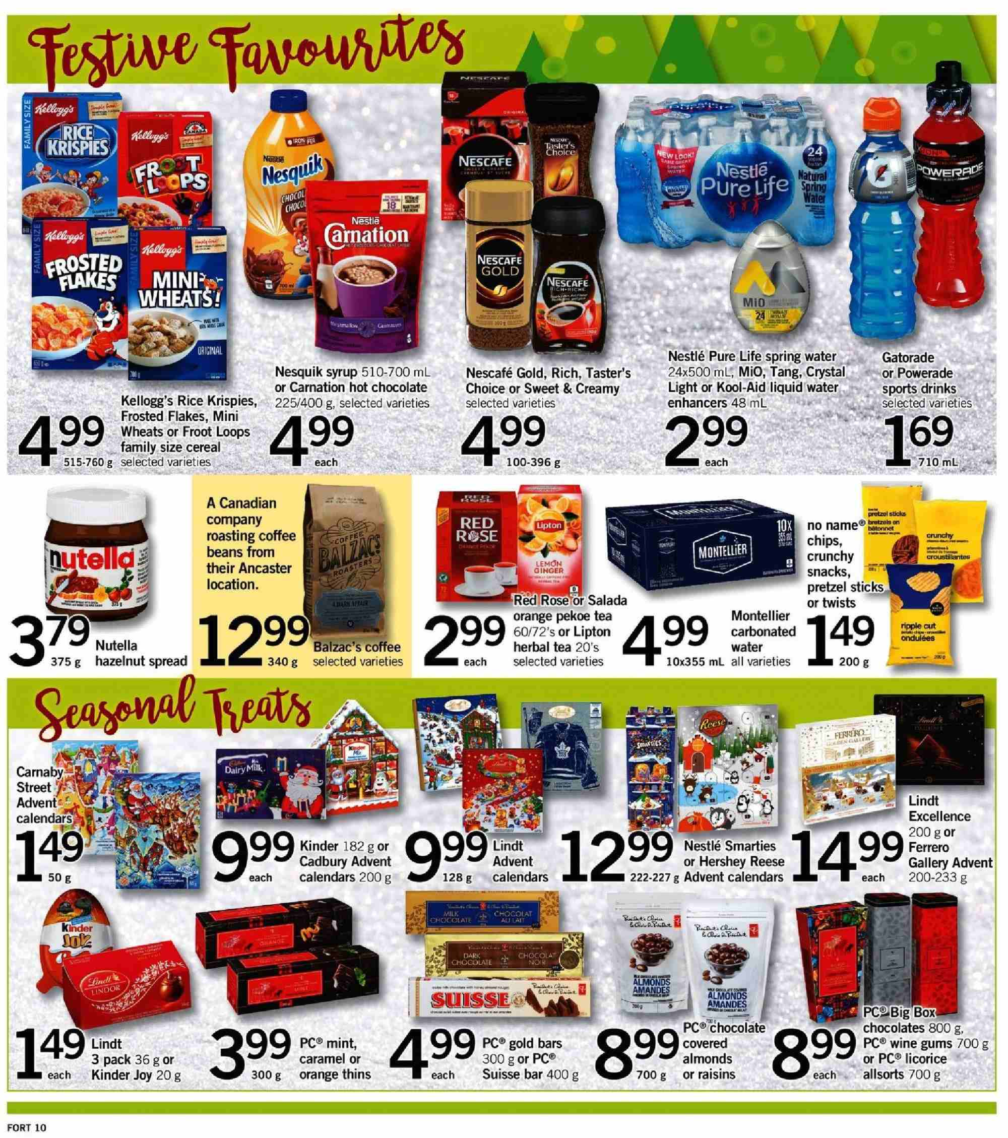 Fortinos Flyer - November 08, 2018 - November 14, 2018 - Sales products - water. Page 11.
