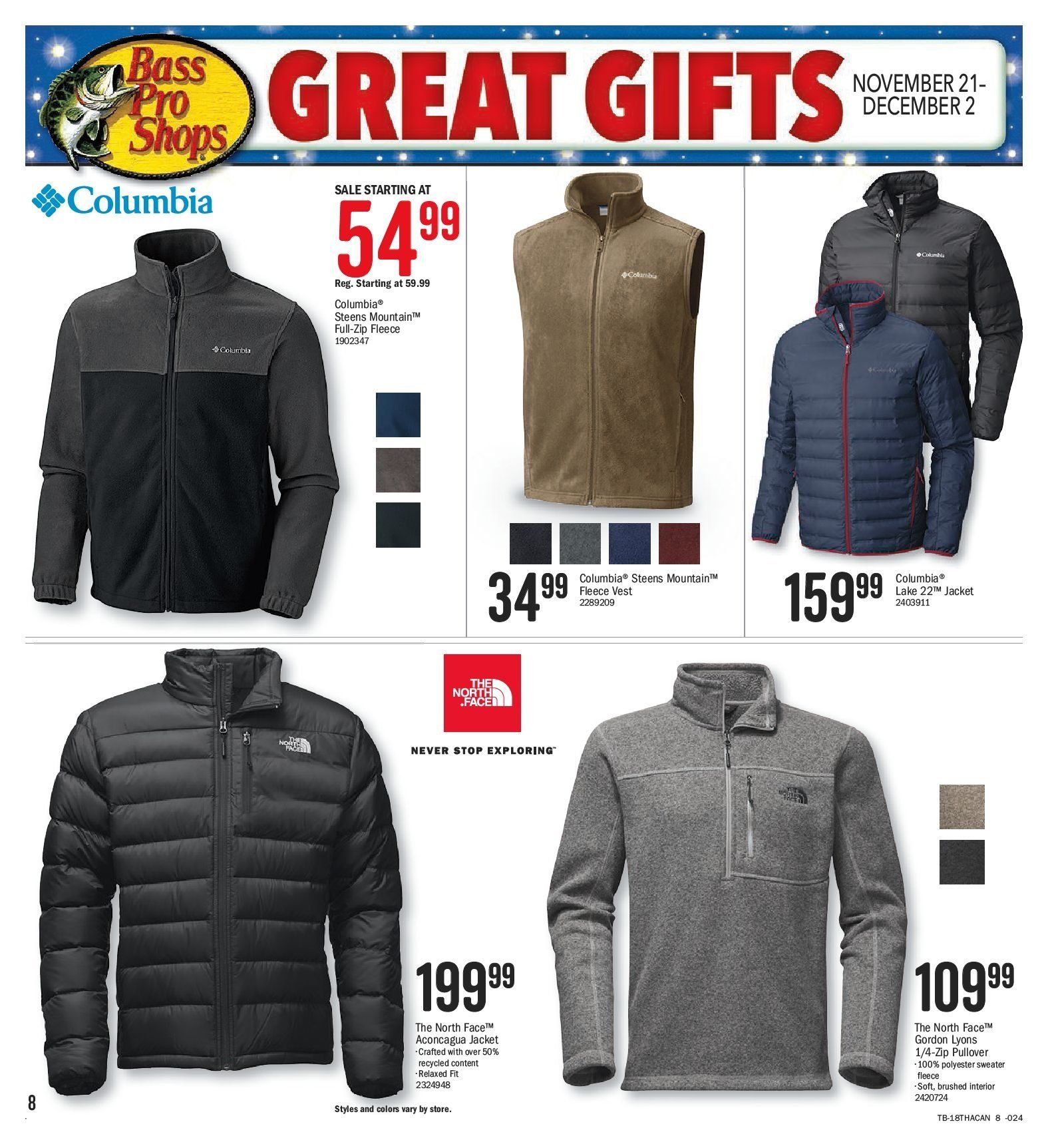 Bass Pro Shops Flyer  - November 21, 2018 - December 02, 2018. Page 8.
