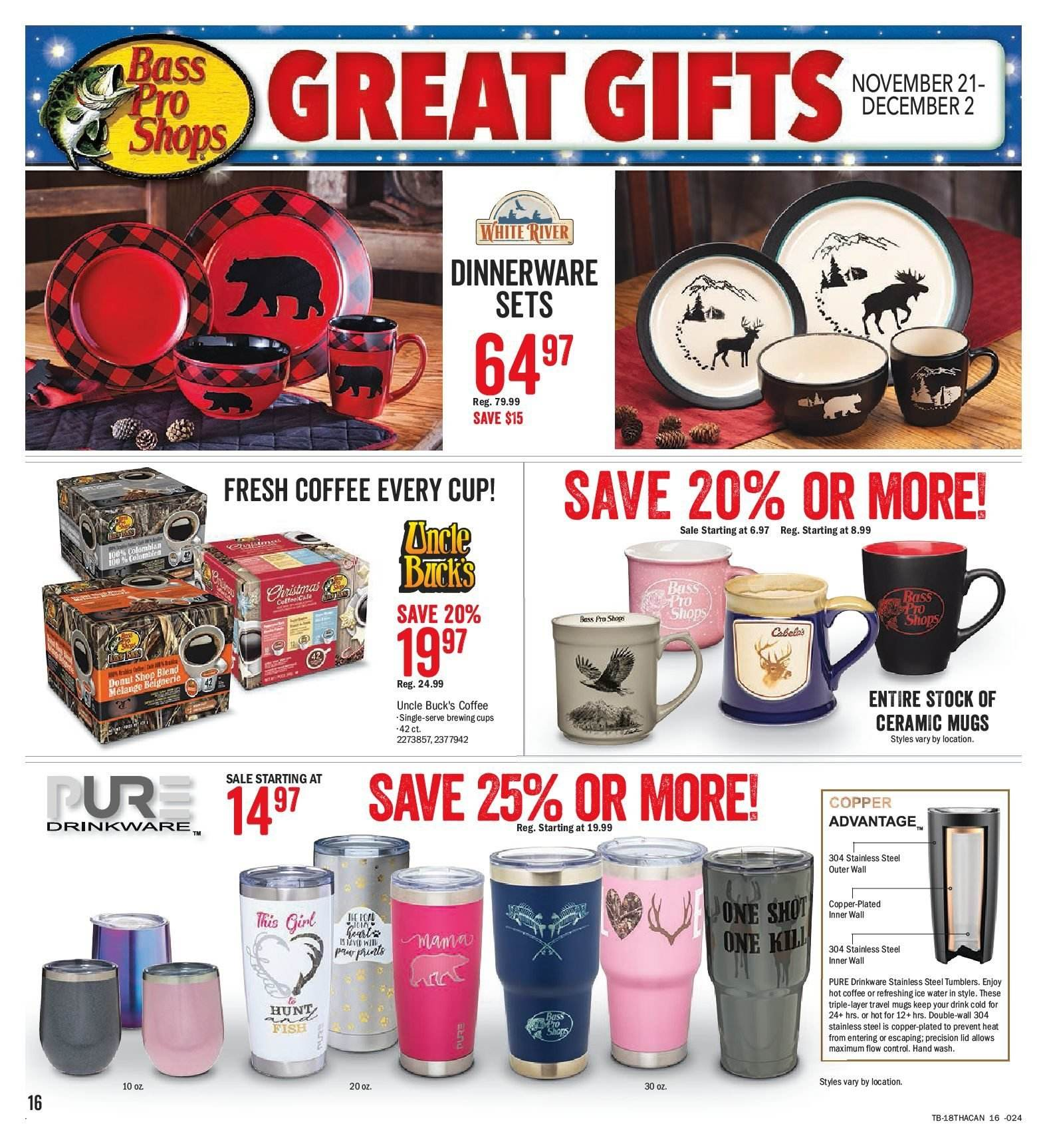 Bass Pro Shops Flyer  - November 21, 2018 - December 02, 2018. Page 16.