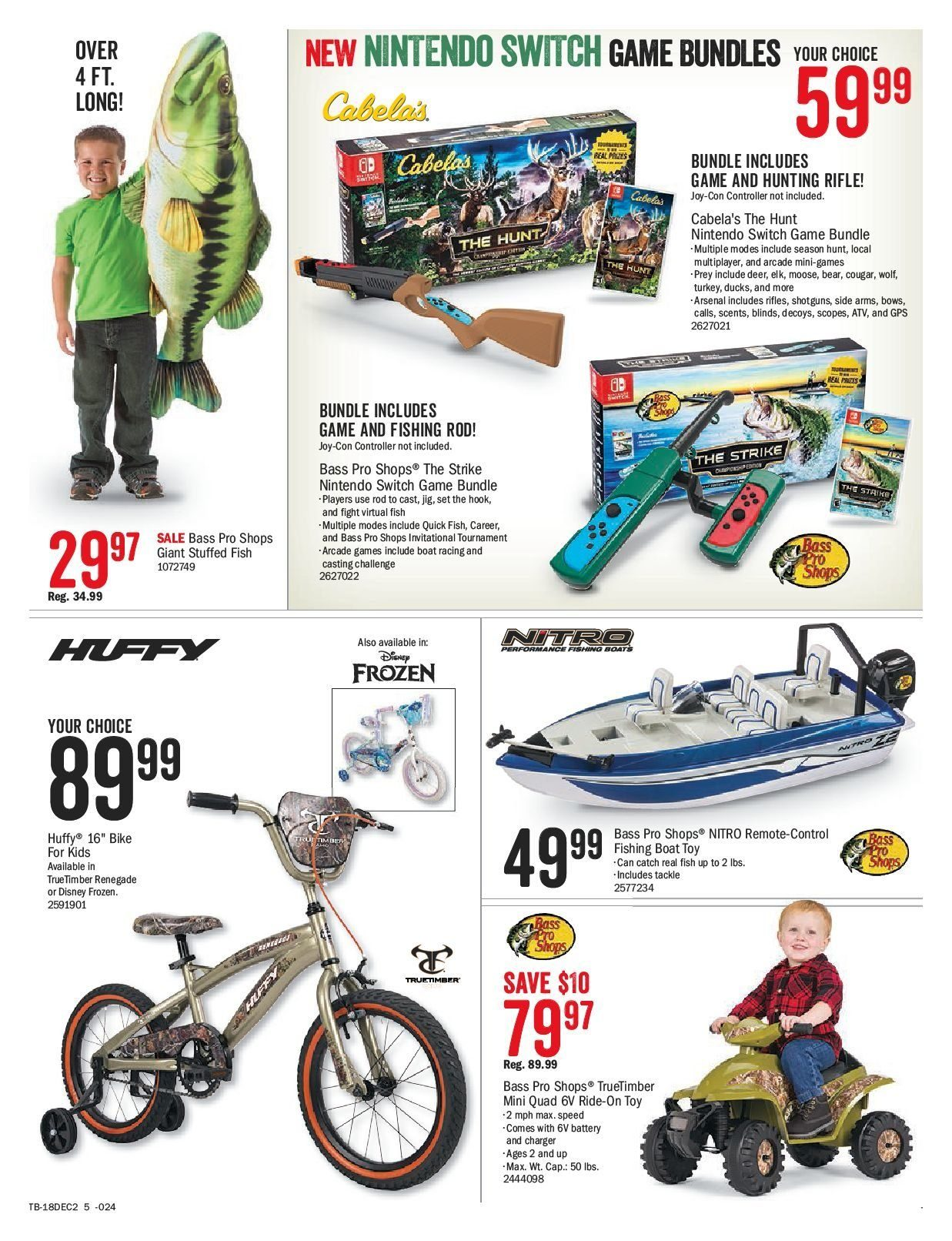 Bass Pro Shops Flyer  - December 02, 2018 - December 24, 2018. Page 5.