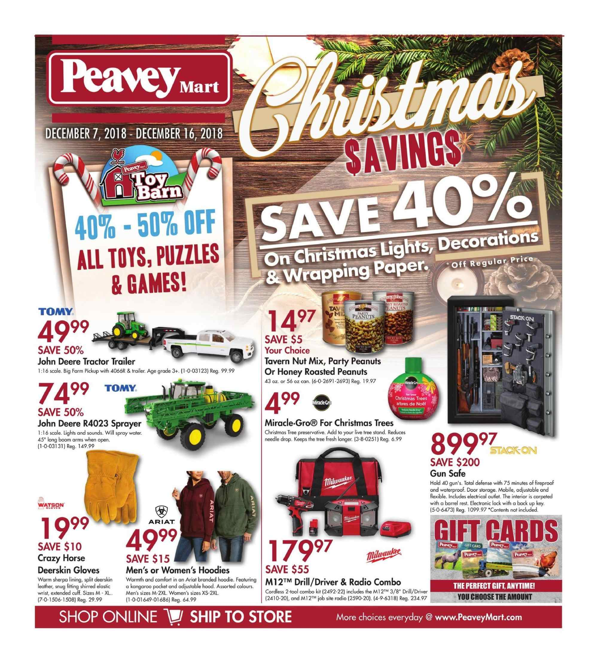 Current flyer Peavey Mart