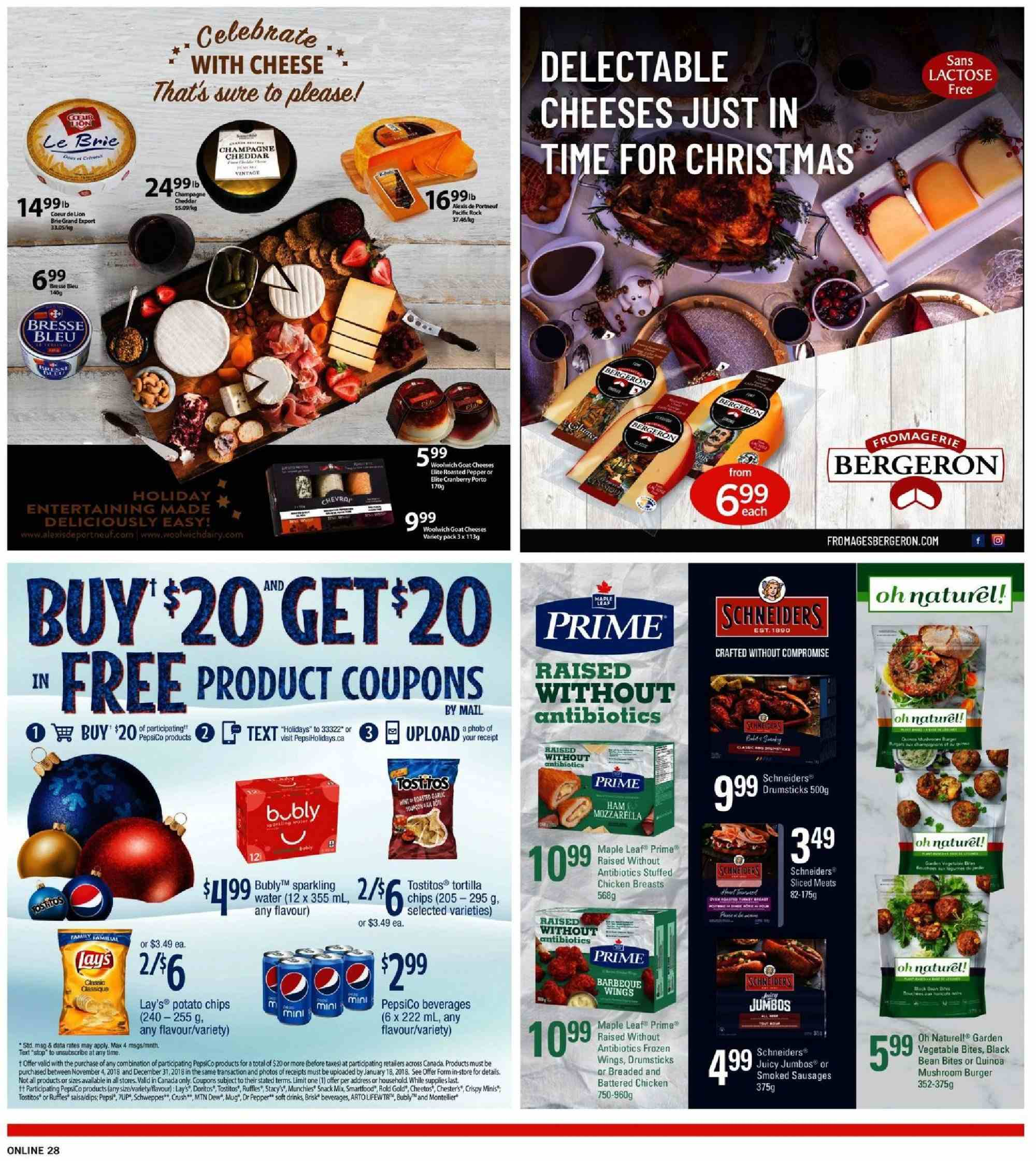 Fortinos Flyer - December 20, 2018 - December 26, 2018 - Sales products - water. Page 28.