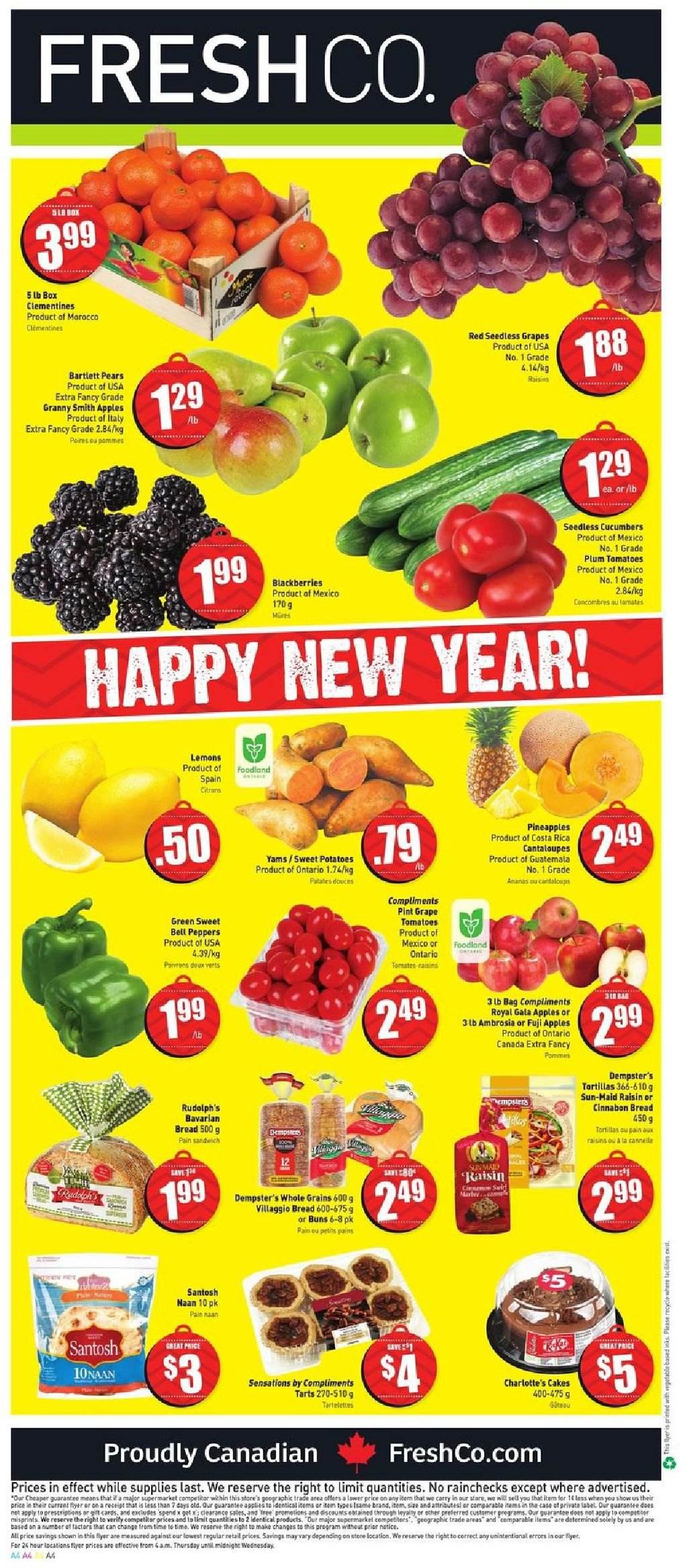 FreshCo. Flyer  - December 27, 2018 - January 02, 2019. Page 4.