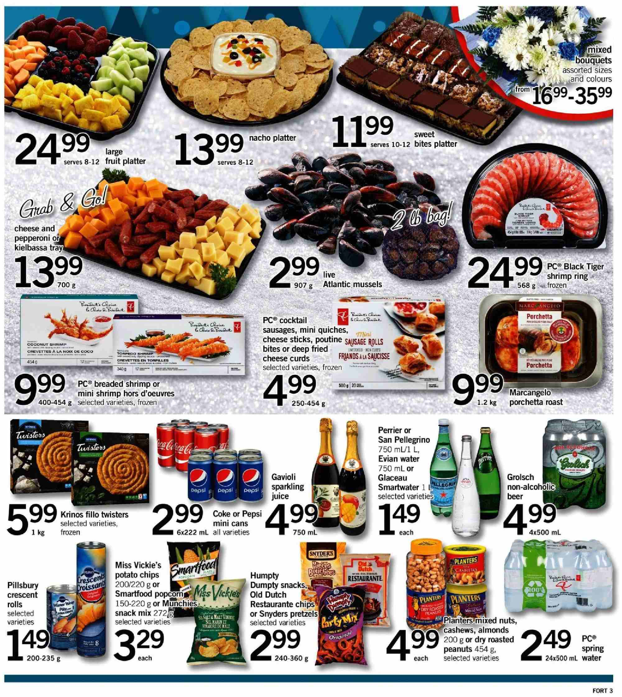 Fortinos Flyer - December 27, 2018 - January 02, 2019 - Sales products - water. Page 3.
