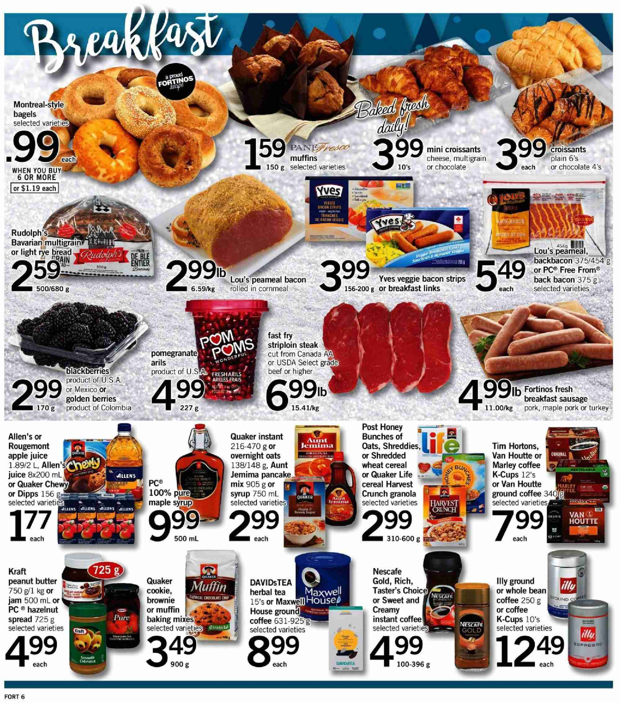 Fortinos Flyer  - December 27, 2018 - January 02, 2019. Page 6.