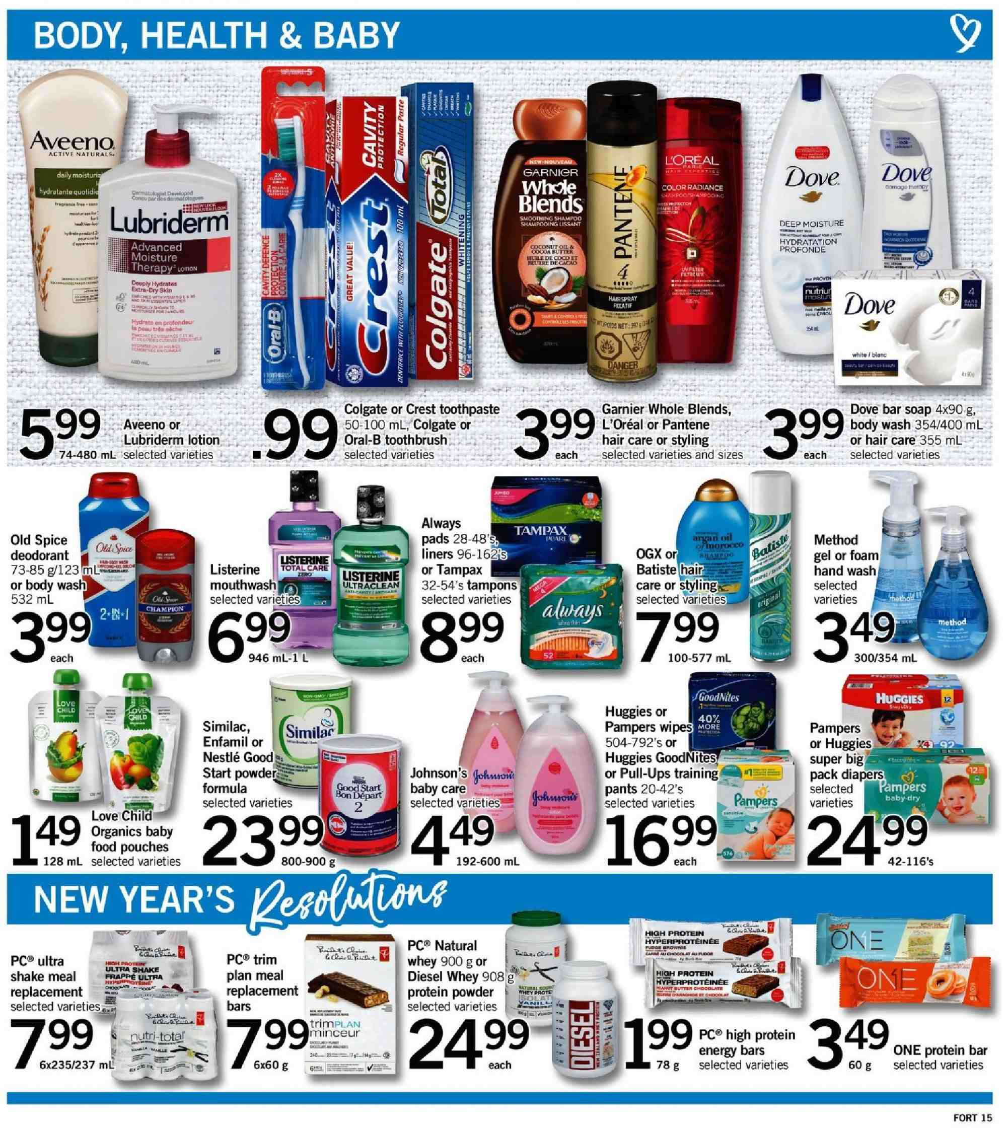 Fortinos Flyer  - January 03, 2019 - January 09, 2019. Page 15.