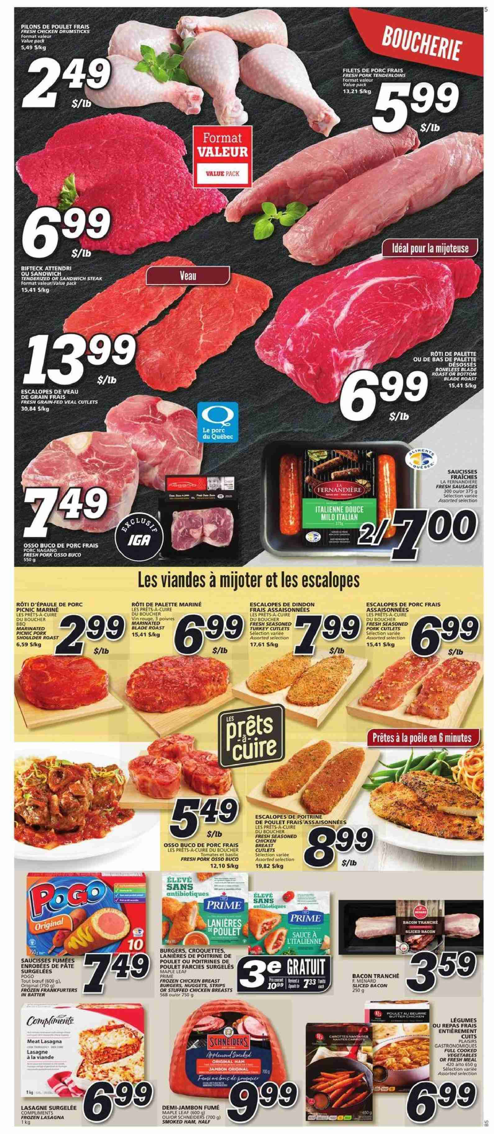 IGA Flyer  - January 10, 2019 - January 16, 2019. Page 3.