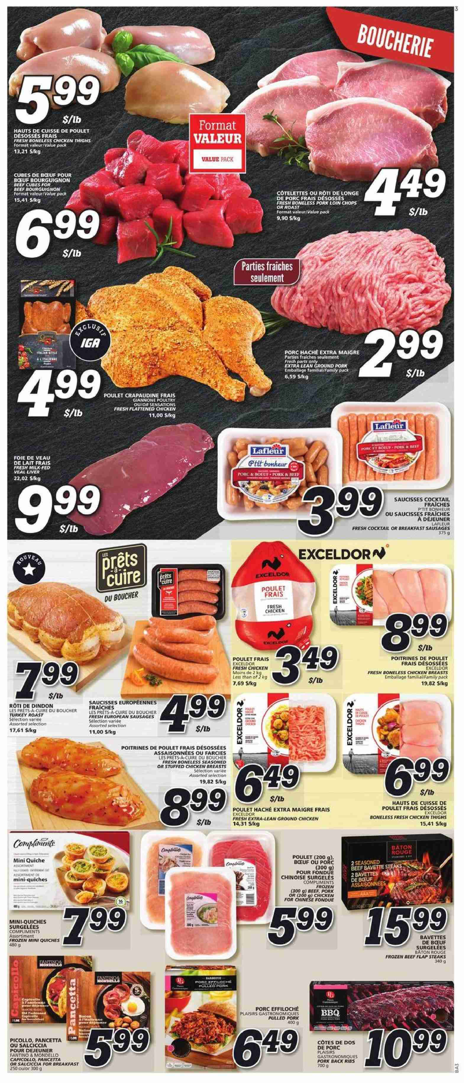 IGA Flyer  - January 17, 2019 - January 23, 2019. Page 3.