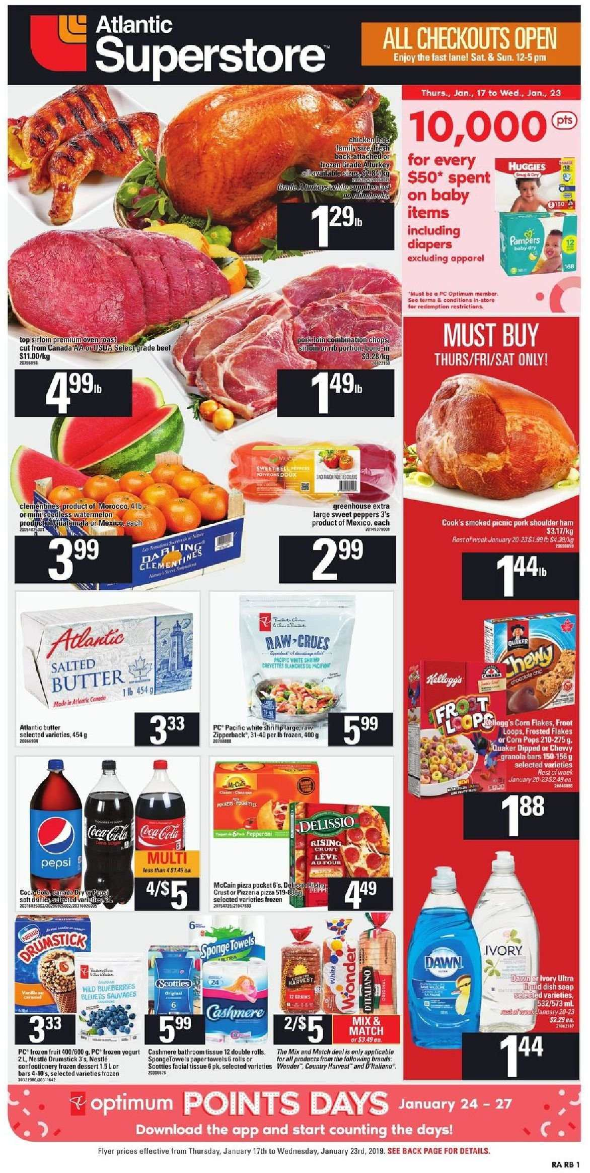 Atlantic Superstore Flyer  - January 17, 2019 - January 23, 2019. Page 1.