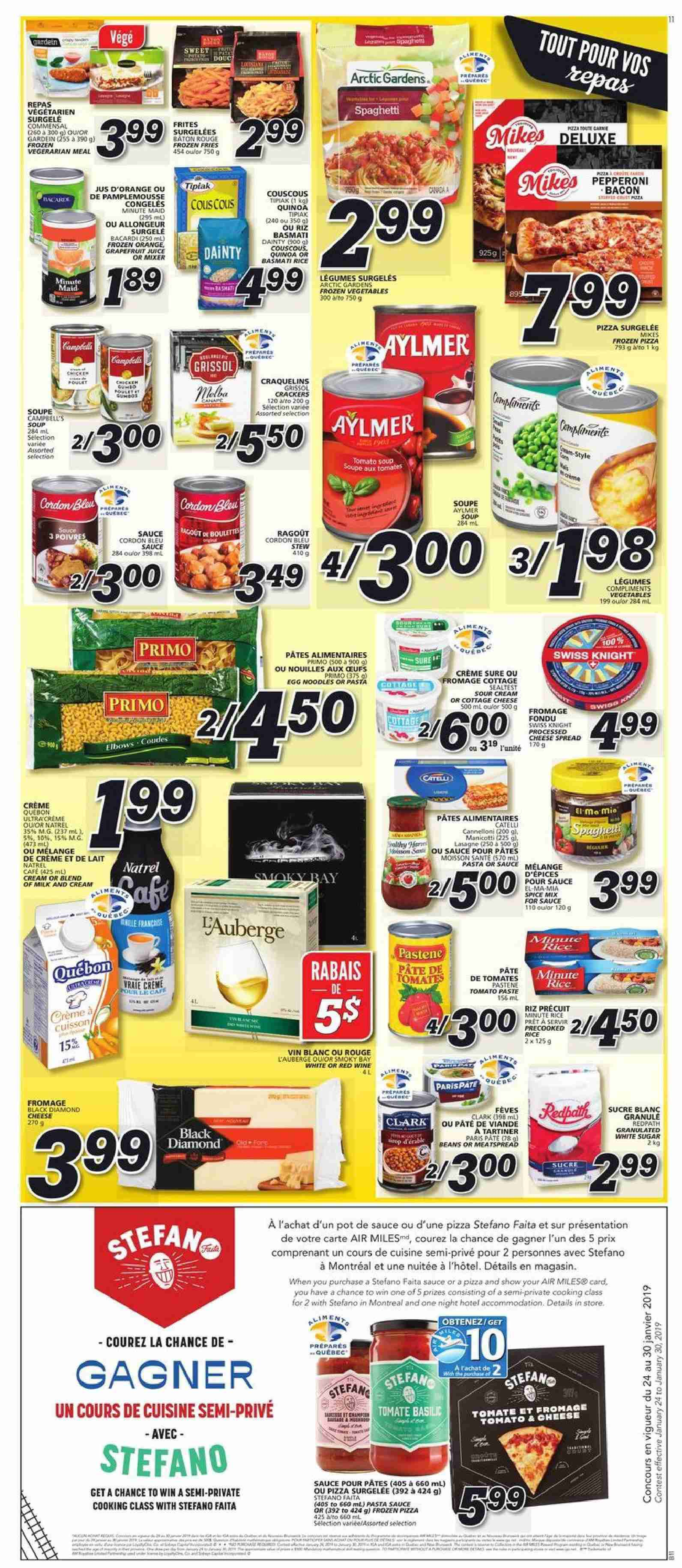 IGA Flyer  - January 24, 2019 - January 30, 2019. Page 7.