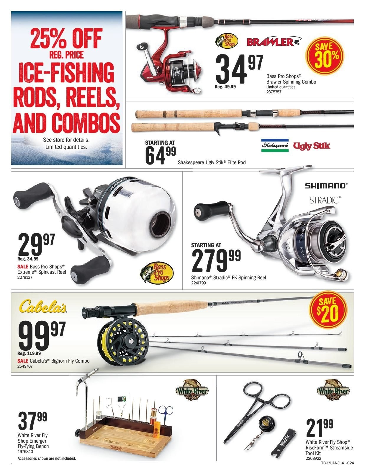 Bass Pro Shops Flyer  - January 25, 2019 - February 14, 2019. Page 4.