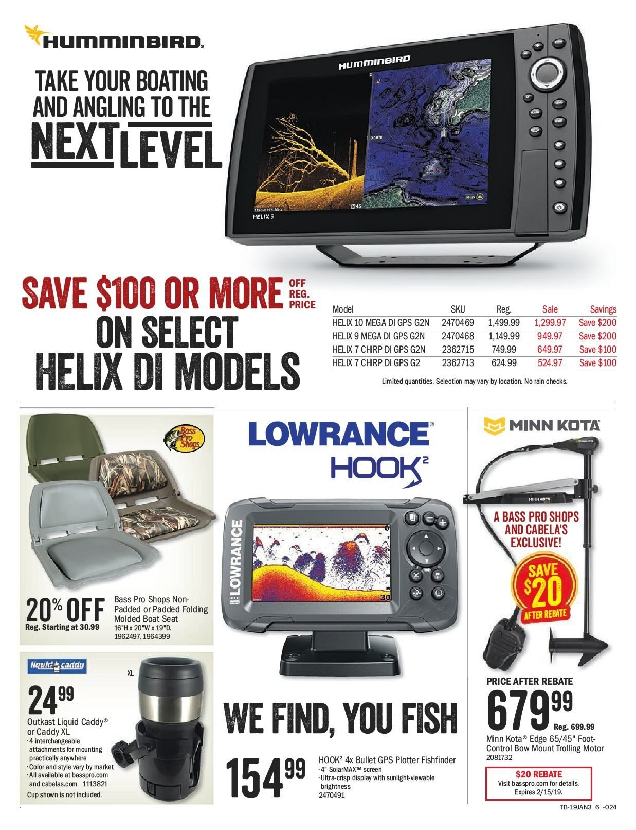 Bass Pro Shops Flyer  - January 25, 2019 - February 14, 2019. Page 6.