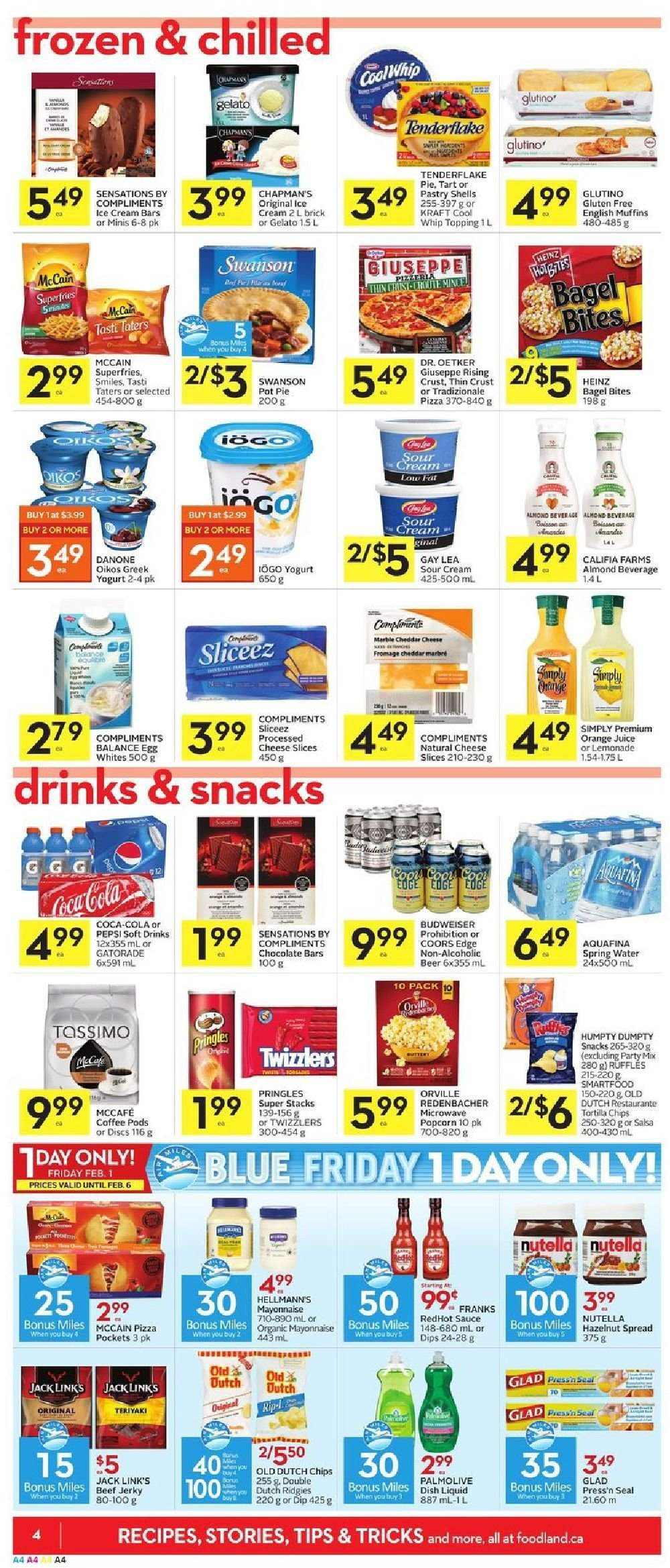 Foodland Flyer  - January 31, 2019 - February 06, 2019. Page 4.