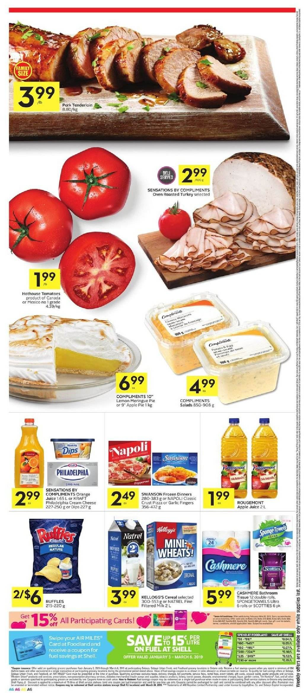 Foodland Flyer  - February 14, 2019 - February 20, 2019. Page 6.
