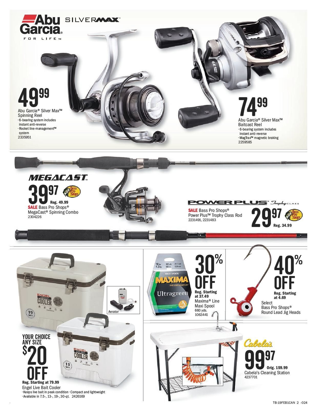 Bass Pro Shops Flyer  - February 15, 2019 - March 03, 2019. Page 2.