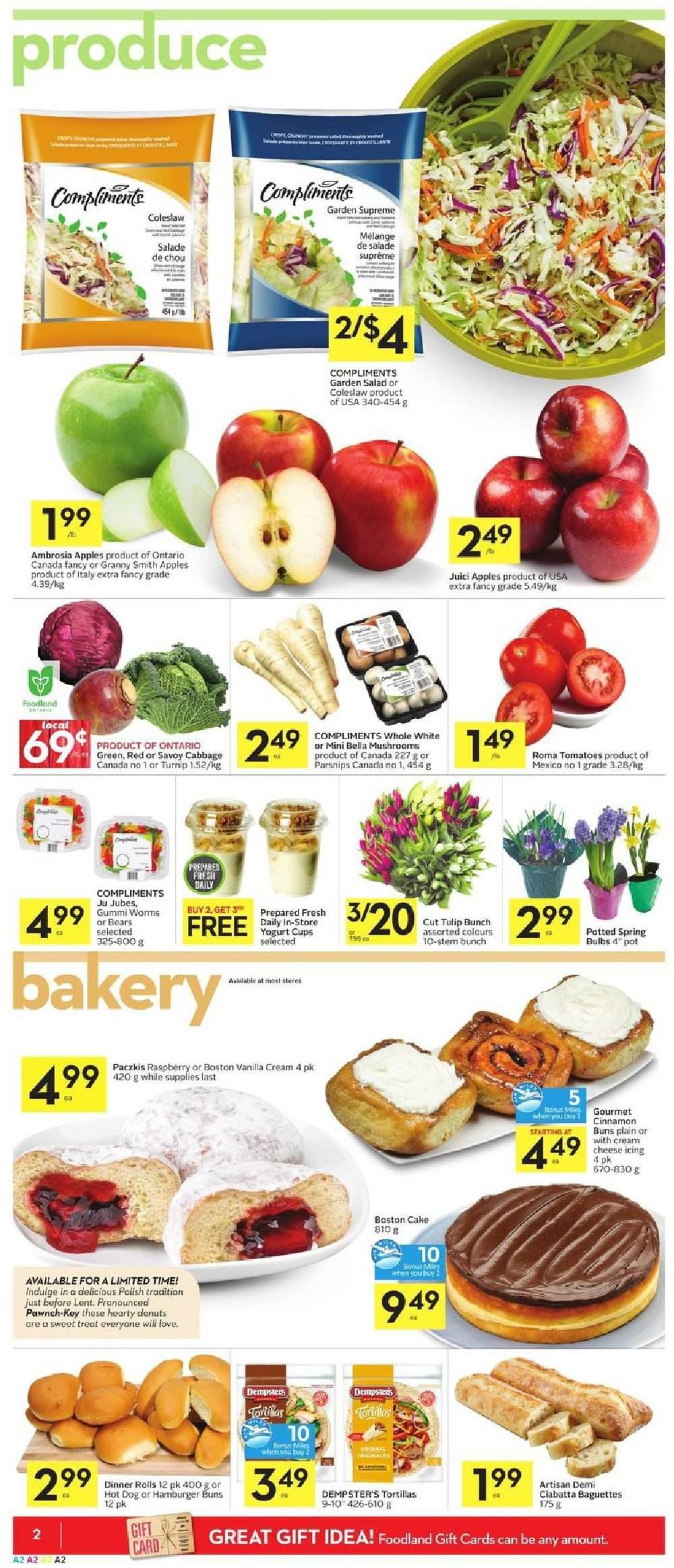 Foodland Flyer  - February 21, 2019 - February 27, 2019. Page 2.