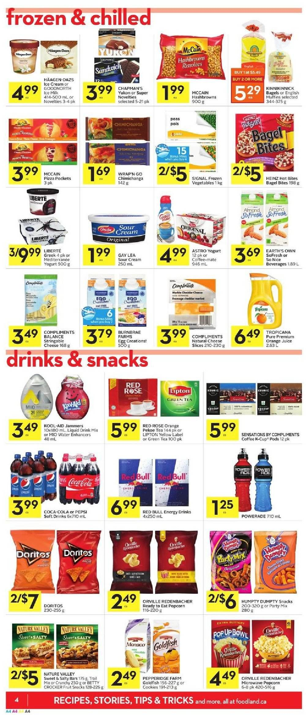 Foodland Flyer  - February 21, 2019 - February 27, 2019. Page 4.