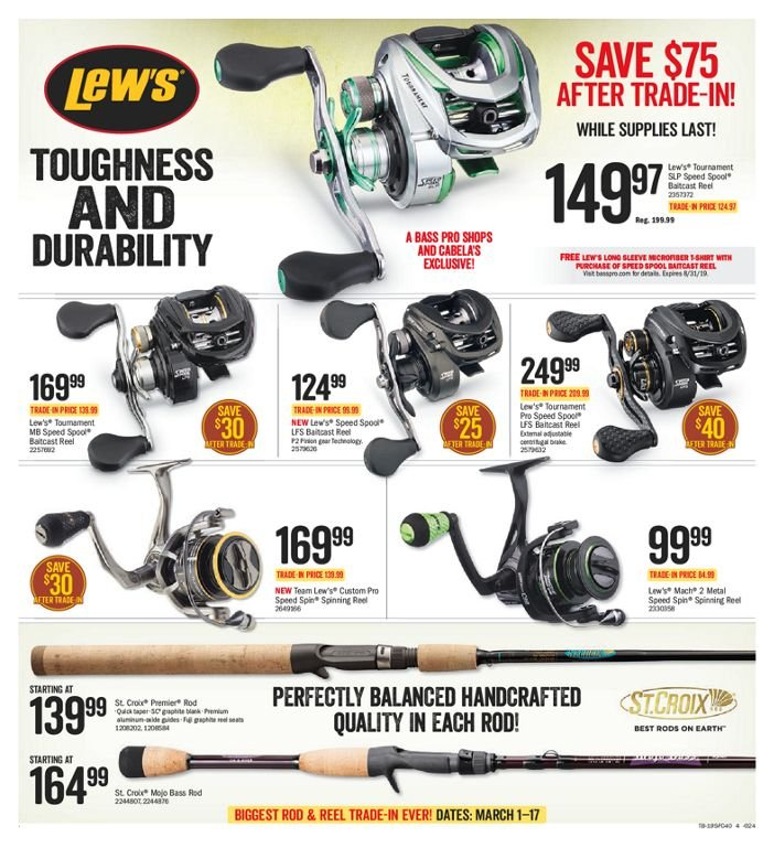 Bass Pro Shops Flyer  - March 01, 2019 - March 17, 2019. Page 4.