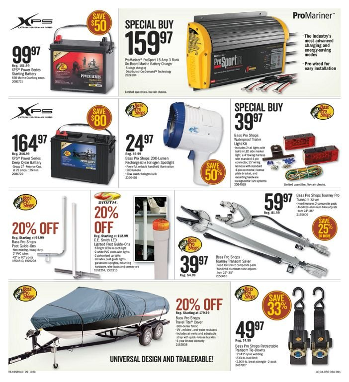 Bass Pro Shops Flyer  - March 01, 2019 - March 17, 2019. Page 28.