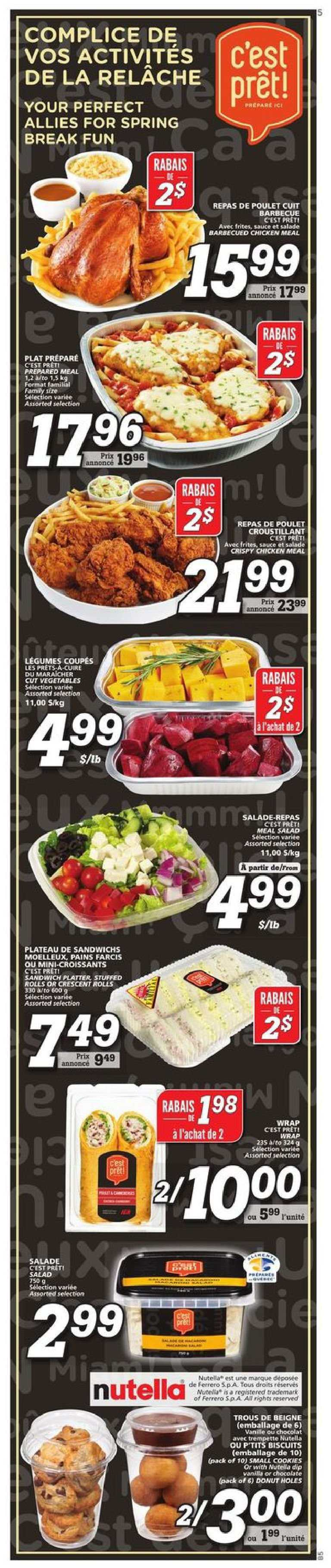 IGA Flyer  - February 28, 2019 - March 06, 2019. Page 11.