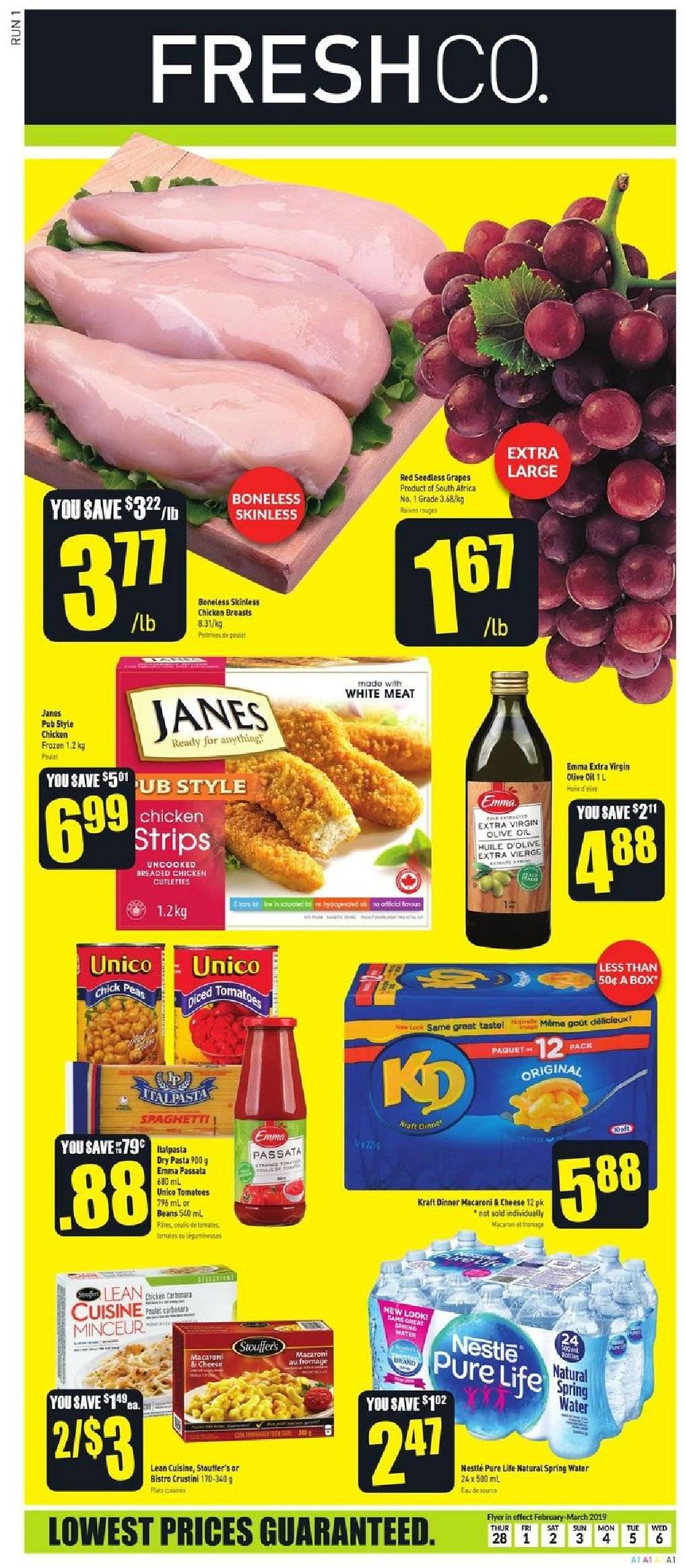 FreshCo. Flyer  - February 28, 2019 - March 06, 2019. Page 1.