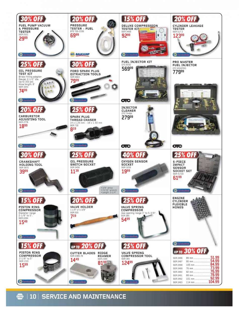 Current NAPA Auto Parts flyer March 01, 2019 - April 30
