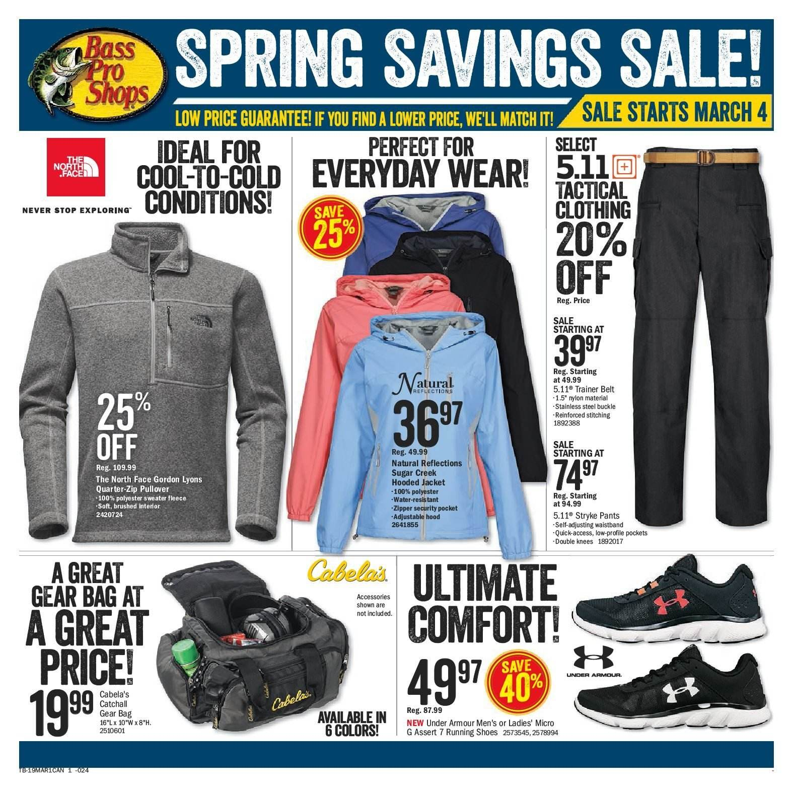 Bass Pro Shops Flyer  - March 04, 2019 - March 17, 2019. Page 1.