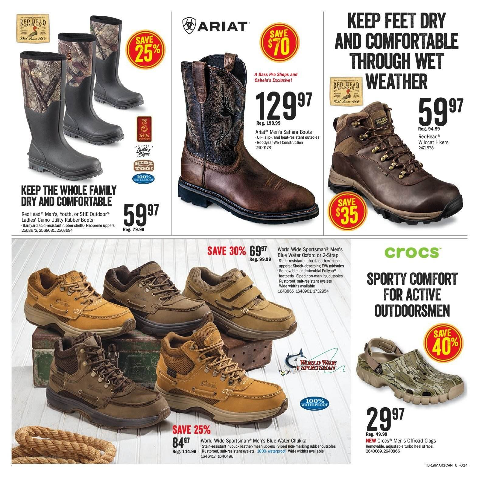 Bass Pro Shops Flyer  - March 04, 2019 - March 17, 2019. Page 6.