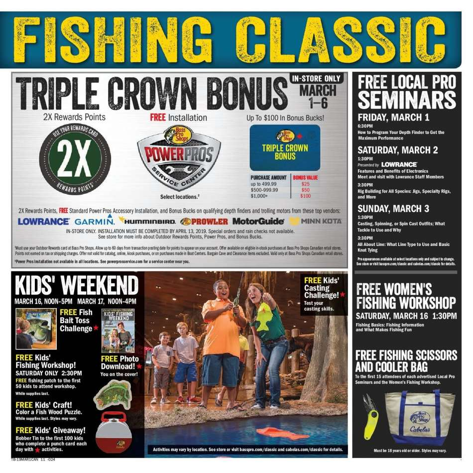 Current Bass Pro Shops flyer March 04, 2019 - March 17, 2019
